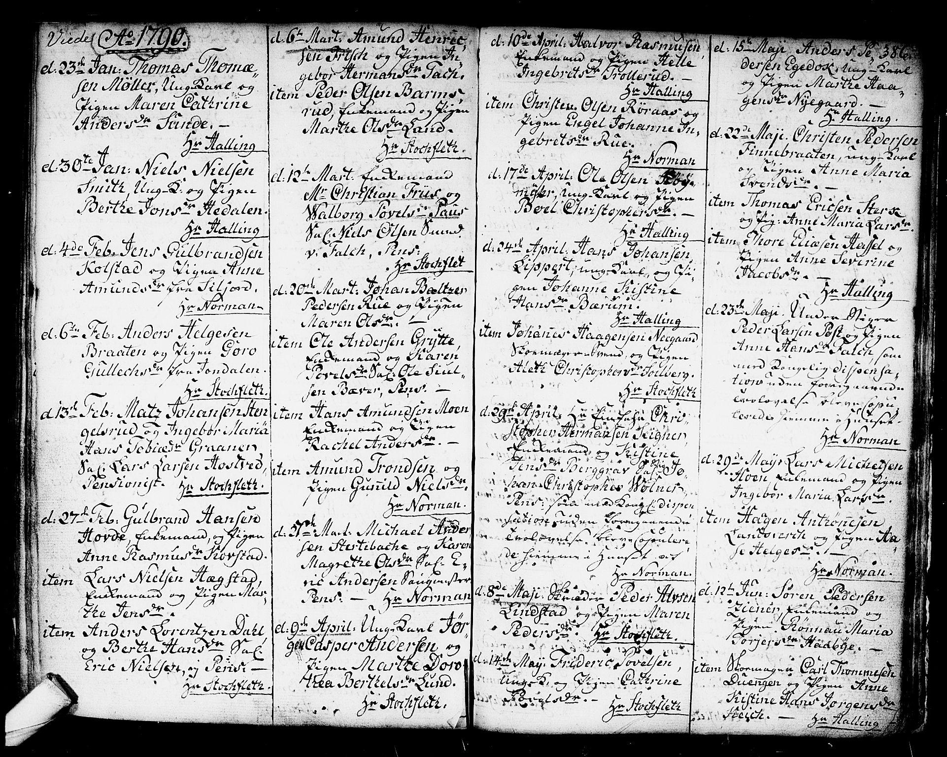 SAKO, Kongsberg kirkebøker, F/Fa/L0006: Ministerialbok nr. I 6, 1783-1797, s. 386