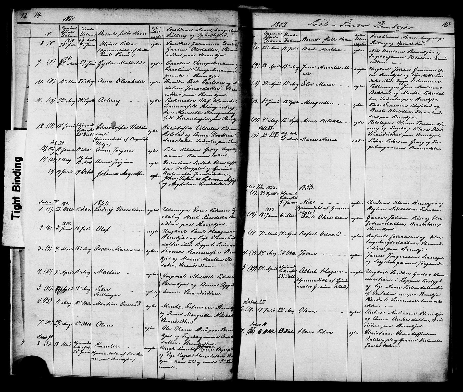 SAT, Ministerialprotokoller, klokkerbøker og fødselsregistre - Nord-Trøndelag, 739/L0367: Ministerialbok nr. 739A01 /1, 1838-1868, s. 14-15