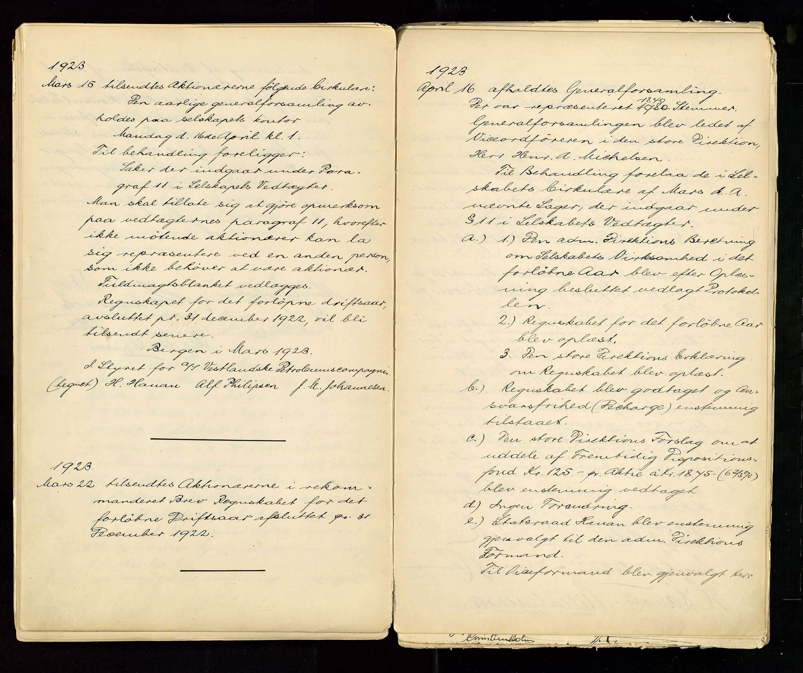 SAST, PA 1533 - A/S Vestlandske Petroleumscompani, A/Aa/L0001: Generalforsamlinger og styreprotokoller, 1890-1953, s. 78