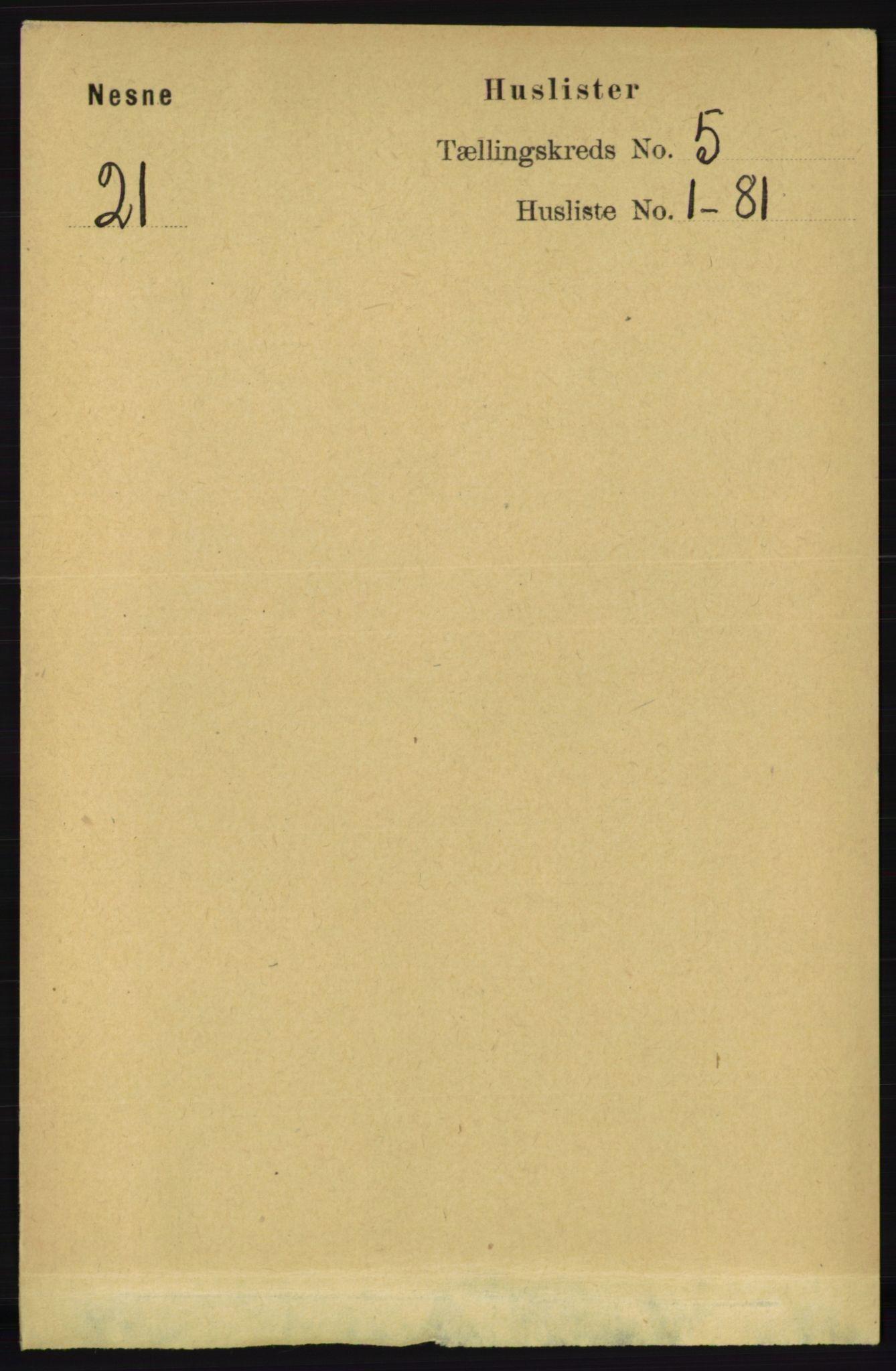 RA, Folketelling 1891 for 1828 Nesna herred, 1891, s. 2696