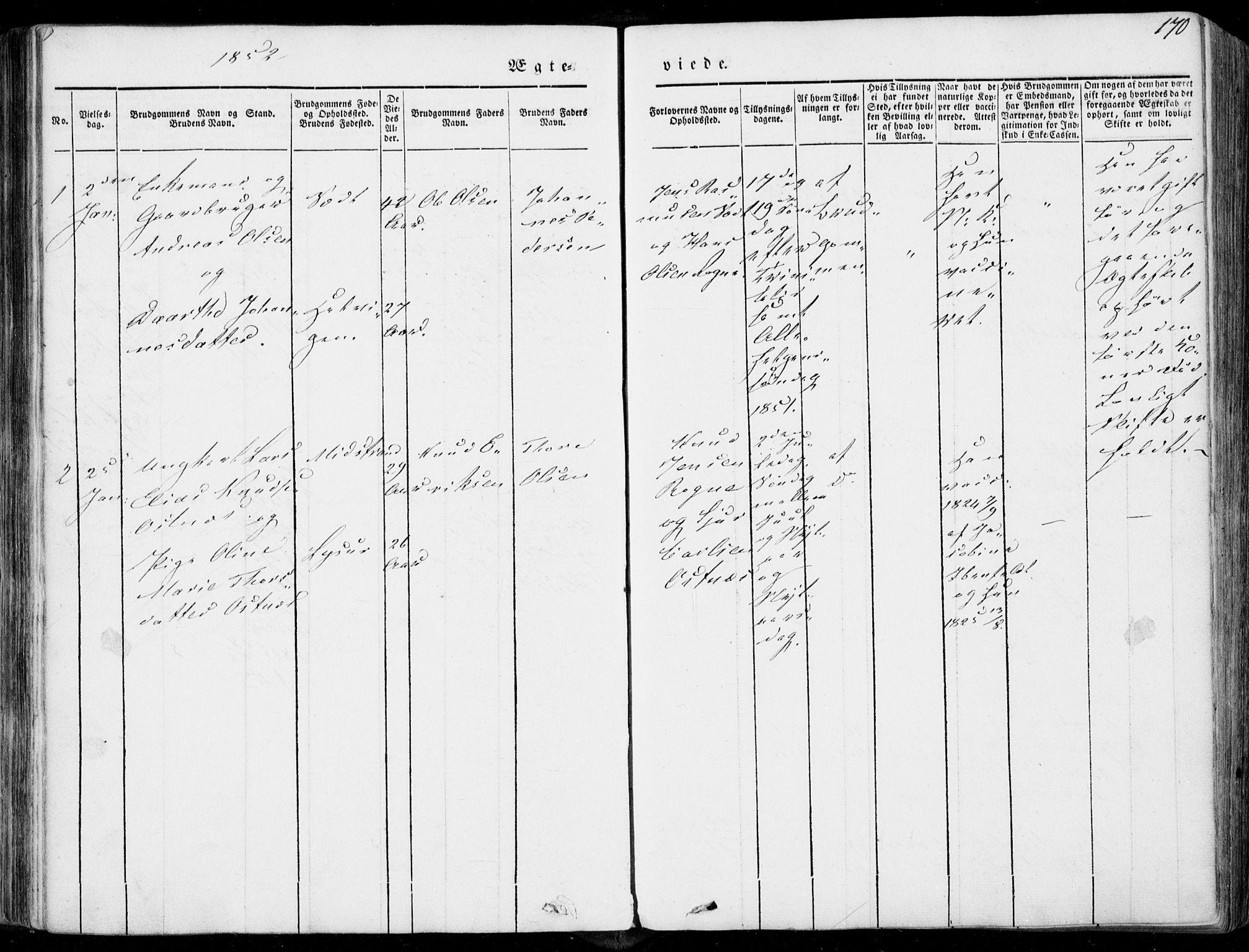 SAT, Ministerialprotokoller, klokkerbøker og fødselsregistre - Møre og Romsdal, 536/L0497: Ministerialbok nr. 536A06, 1845-1865, s. 170