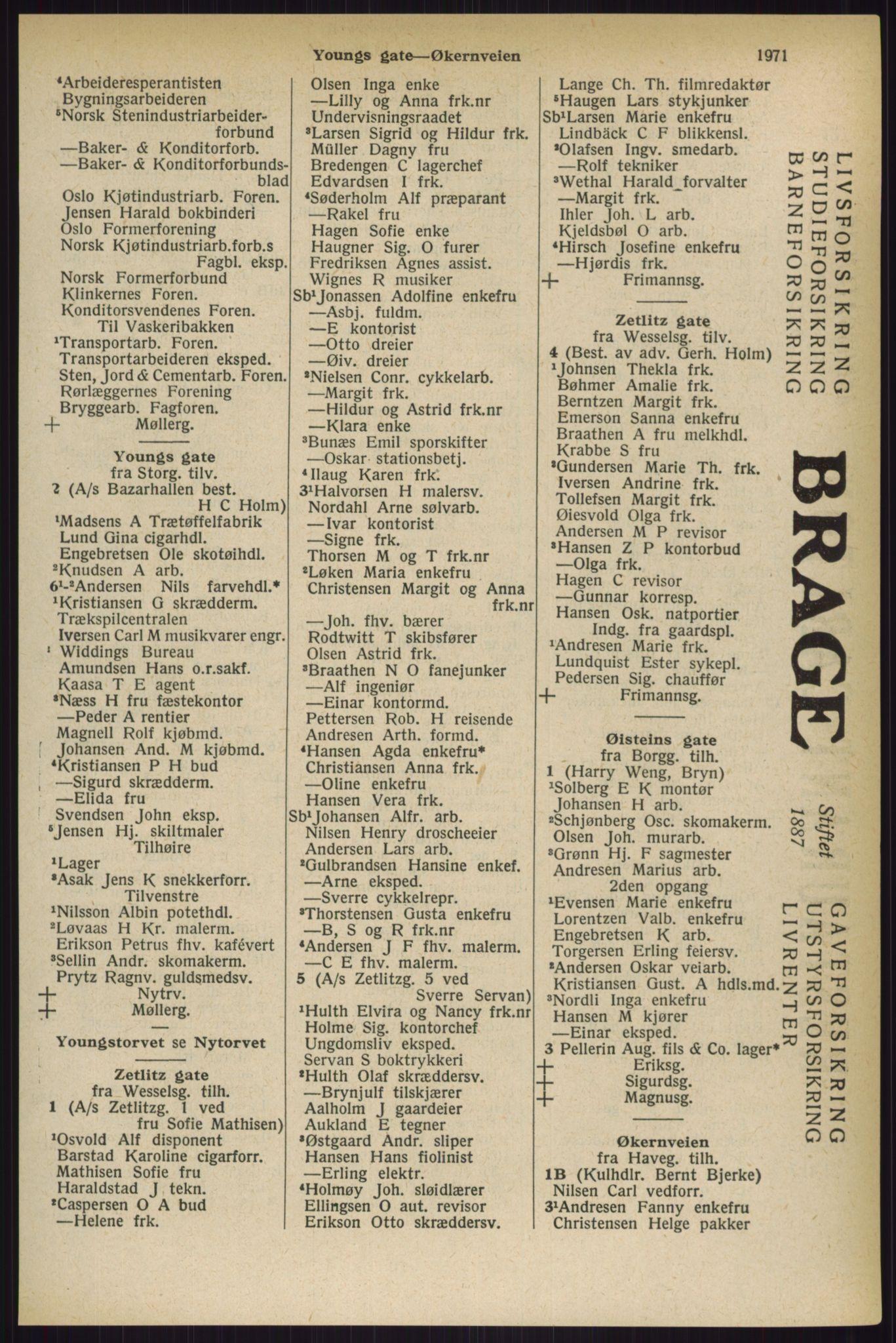 RA, Oslo adressebok (publikasjon)*, 1927, s. 1971