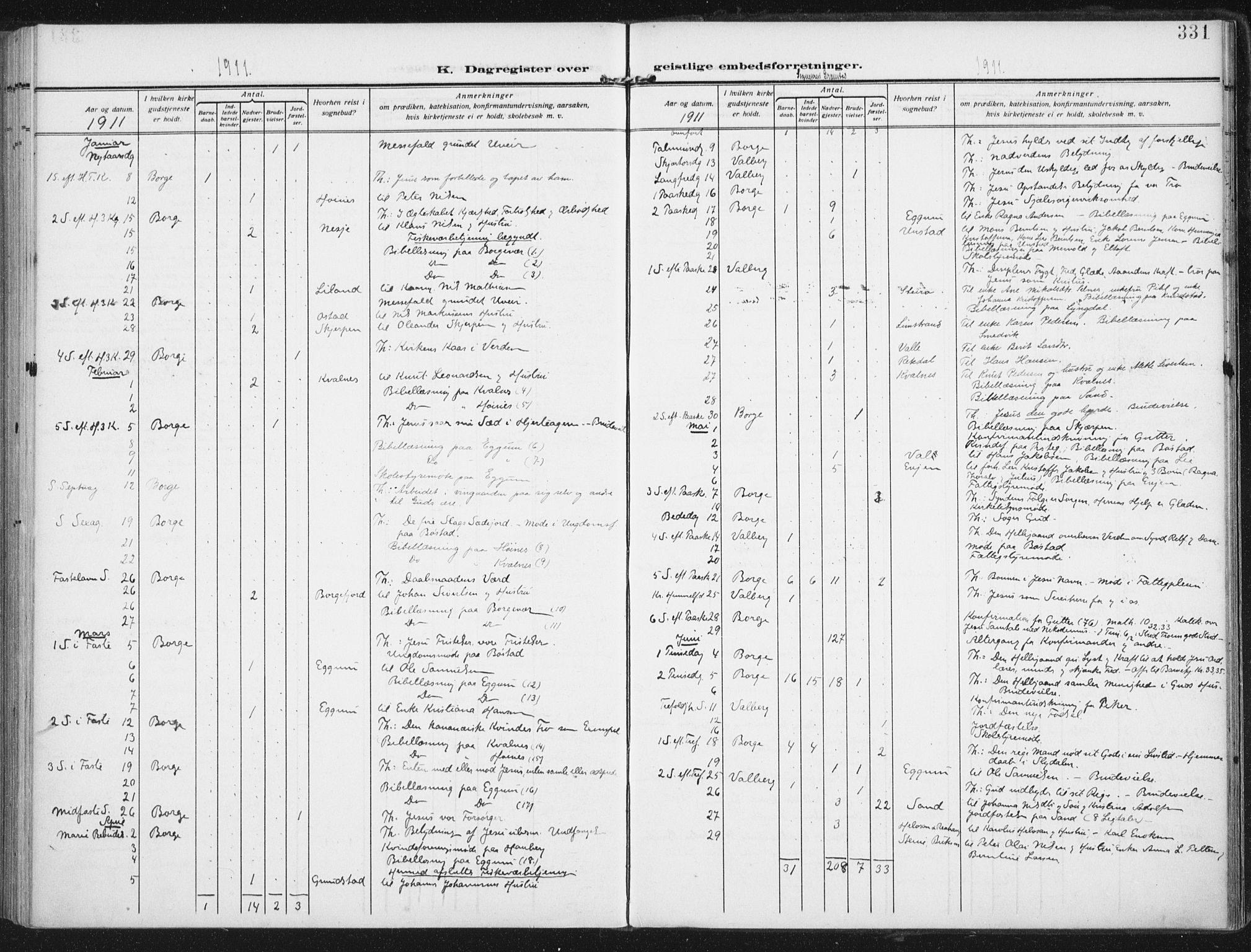 SAT, Ministerialprotokoller, klokkerbøker og fødselsregistre - Nordland, 880/L1135: Ministerialbok nr. 880A09, 1908-1919, s. 331