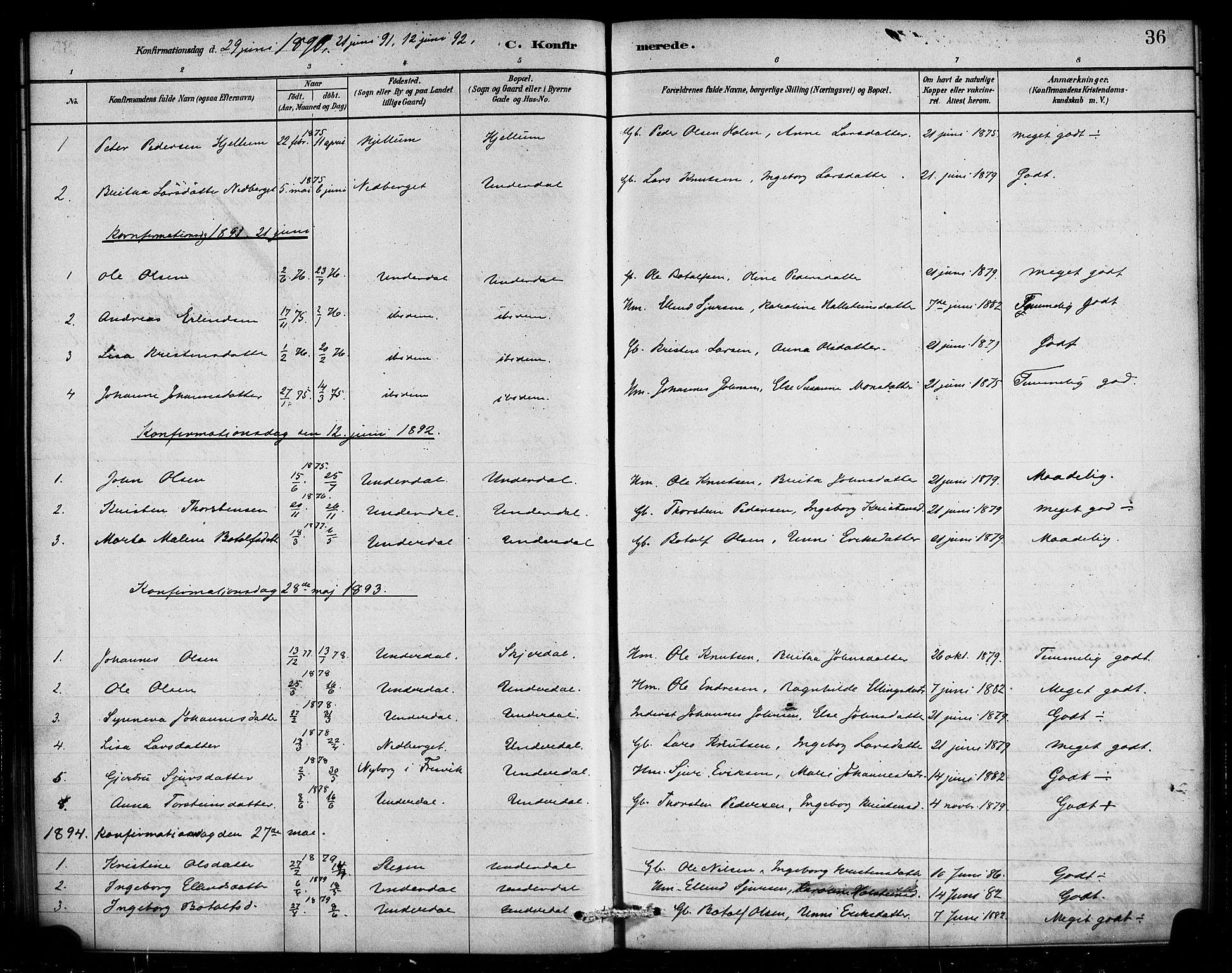 SAB, Aurland Sokneprestembete*, Ministerialbok nr. E 1, 1880-1907, s. 36