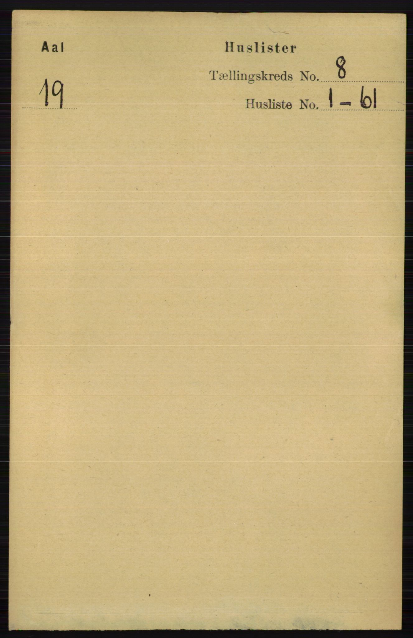 RA, Folketelling 1891 for 0619 Ål herred, 1891, s. 2029