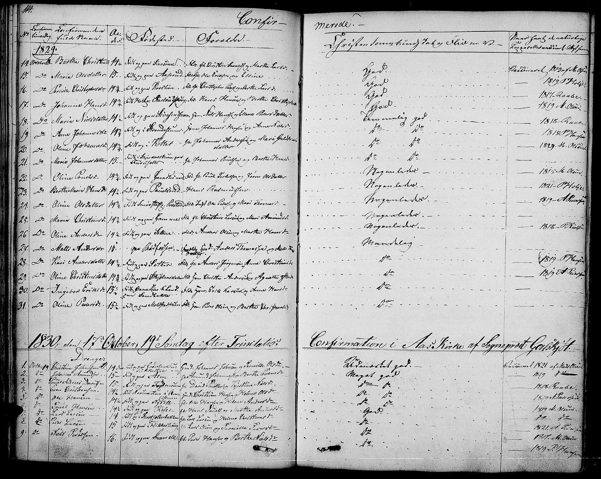 SAH, Vestre Toten prestekontor, Ministerialbok nr. 2, 1825-1837, s. 114