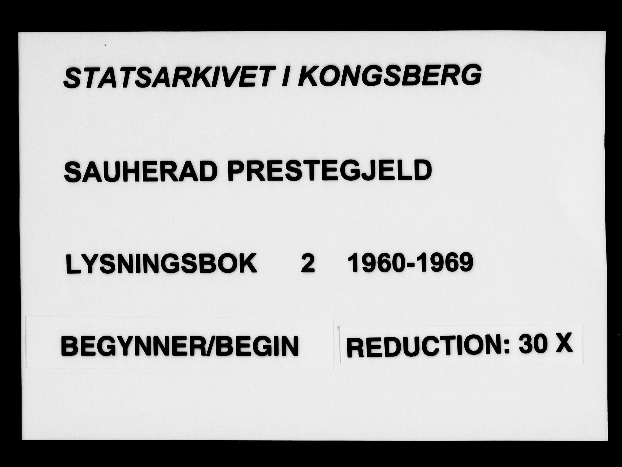 SAKO, Sauherad kirkebøker, H/Ha/L0002: Lysningsprotokoll nr. 2, 1960-1969