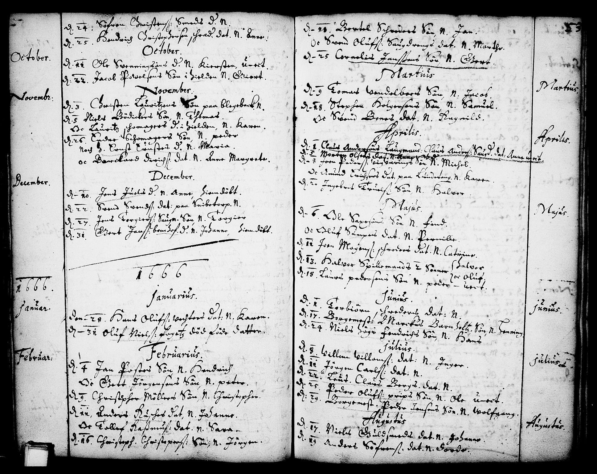 SAKO, Skien kirkebøker, F/Fa/L0001: Ministerialbok nr. 1, 1659-1679, s. 53
