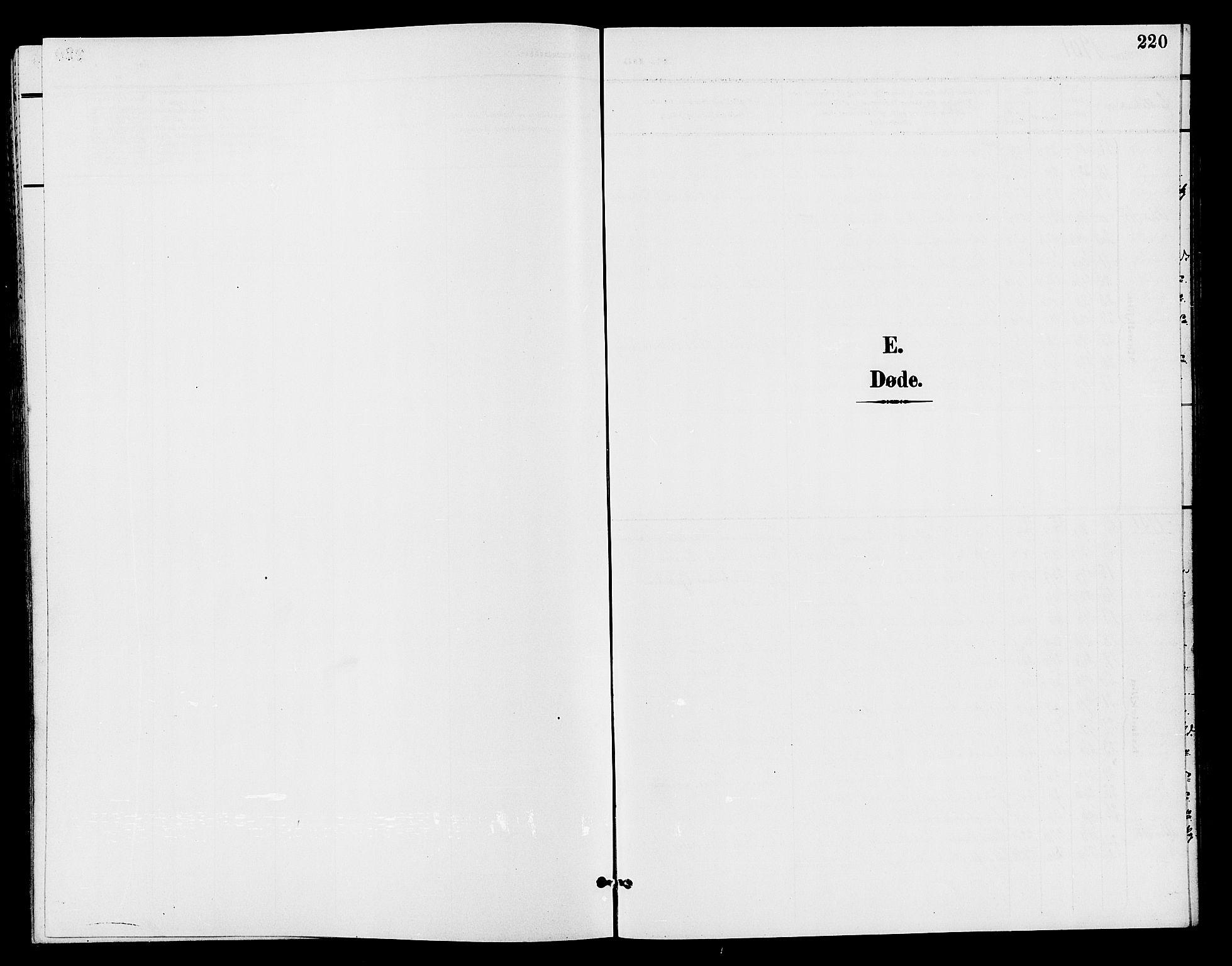 SAH, Østre Toten prestekontor, Klokkerbok nr. 7, 1901-1912, s. 220