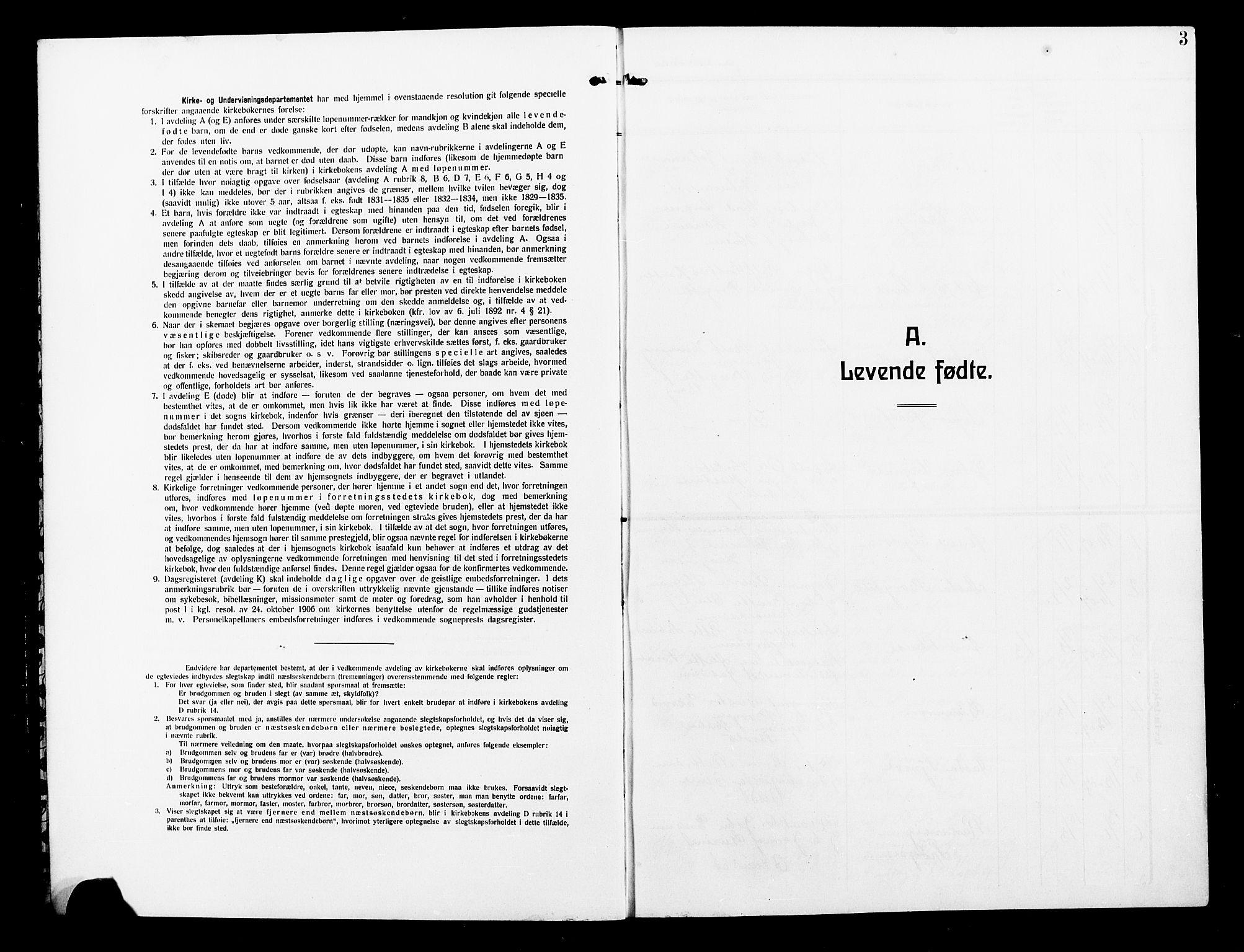 SAT, Ministerialprotokoller, klokkerbøker og fødselsregistre - Nord-Trøndelag, 739/L0376: Klokkerbok nr. 739C04, 1908-1917, s. 3