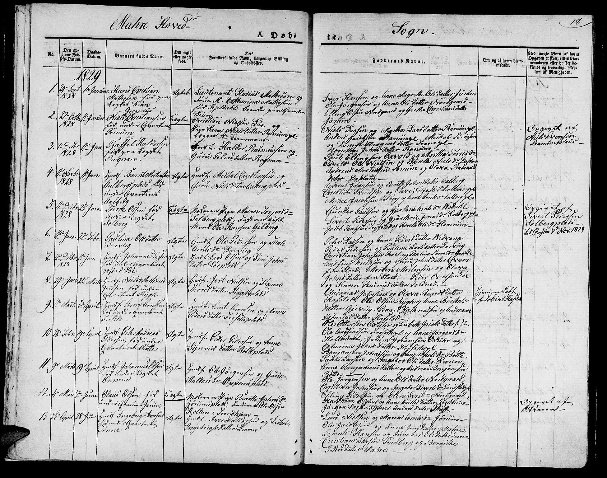 SAT, Ministerialprotokoller, klokkerbøker og fødselsregistre - Nord-Trøndelag, 735/L0336: Ministerialbok nr. 735A05 /1, 1825-1835, s. 18