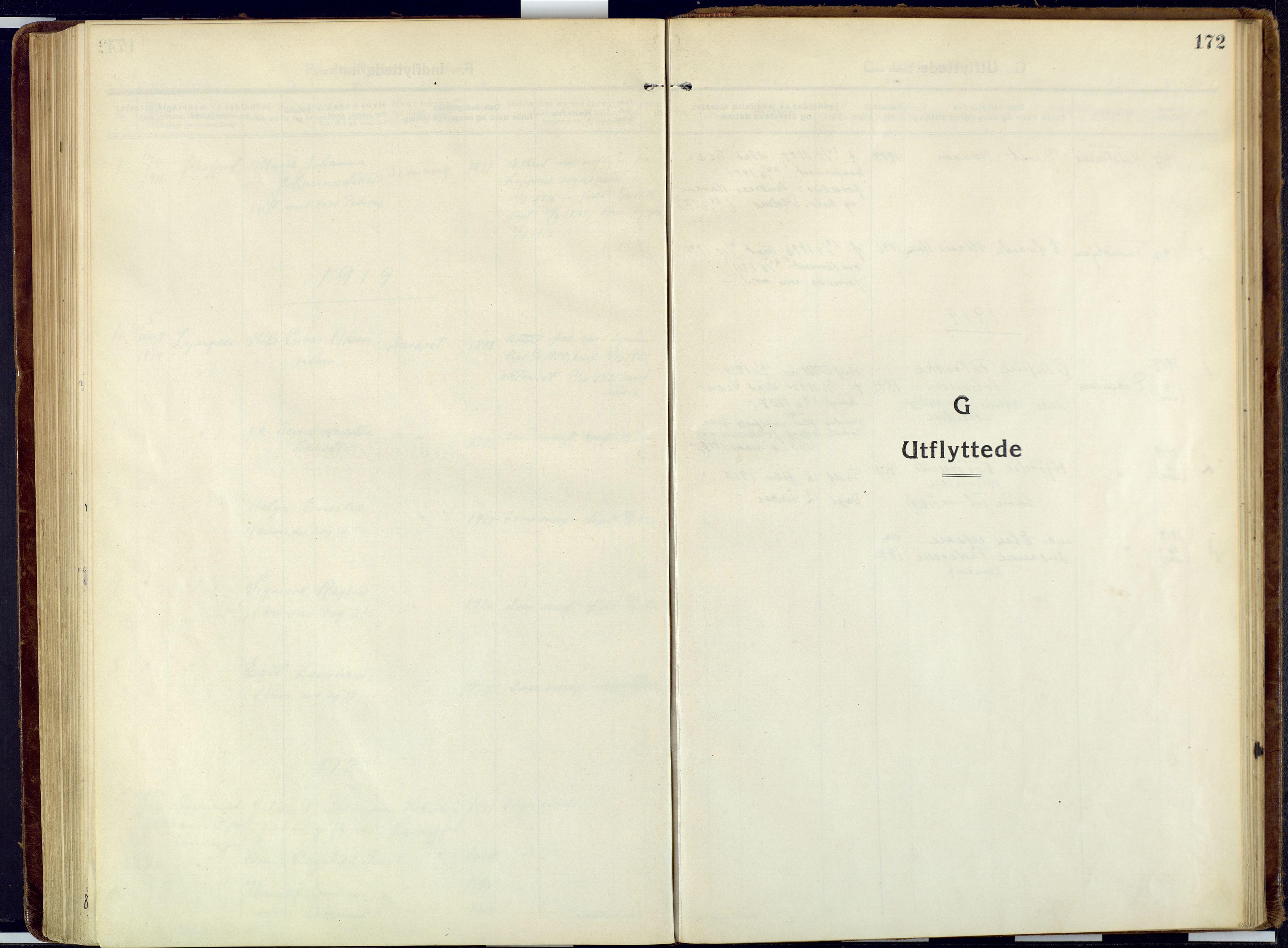 SATØ, Talvik sokneprestkontor, H/Ha/L0018kirke: Ministerialbok nr. 18, 1915-1924, s. 172