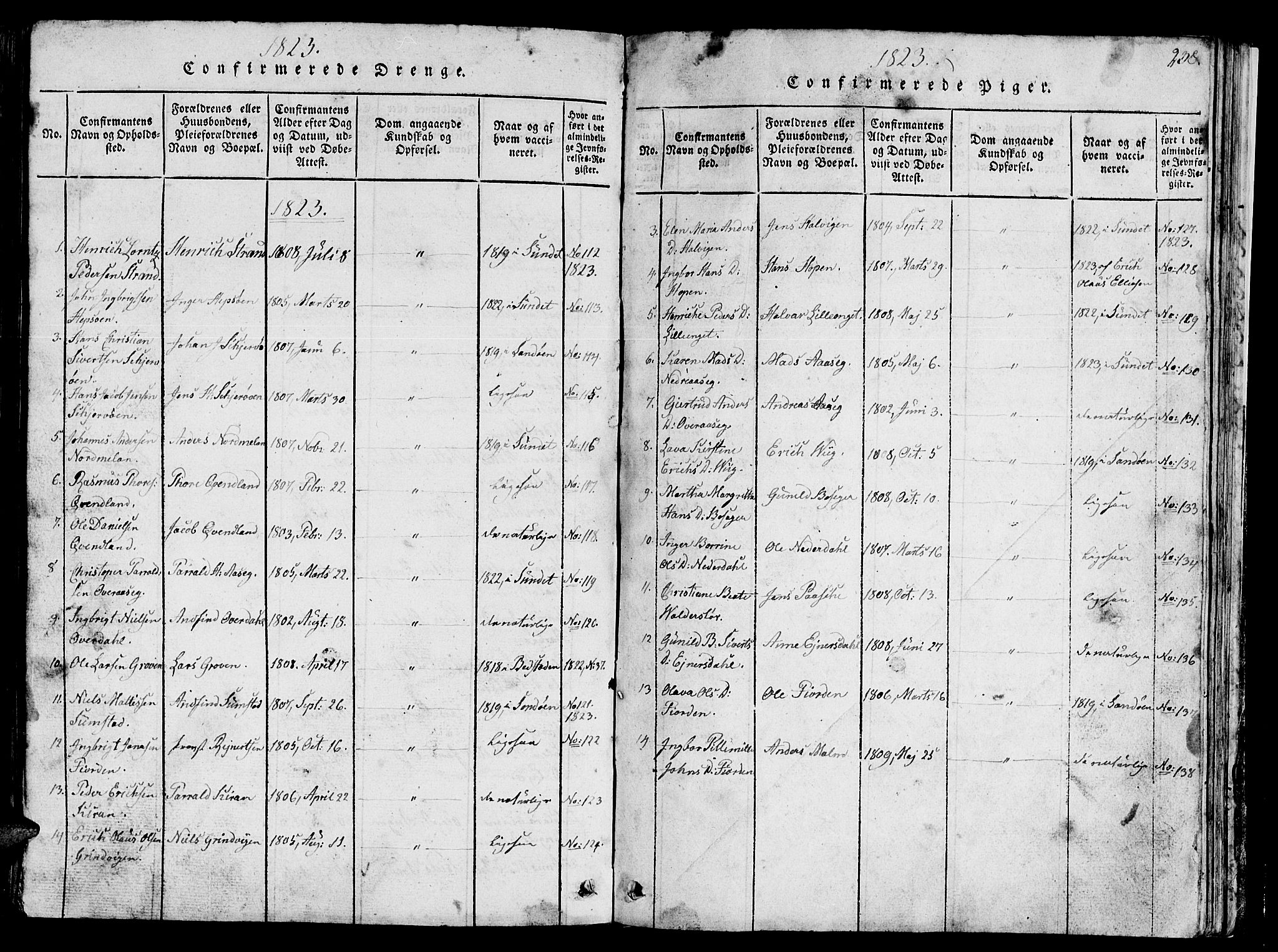 SAT, Ministerialprotokoller, klokkerbøker og fødselsregistre - Sør-Trøndelag, 657/L0714: Klokkerbok nr. 657C01, 1818-1868, s. 238