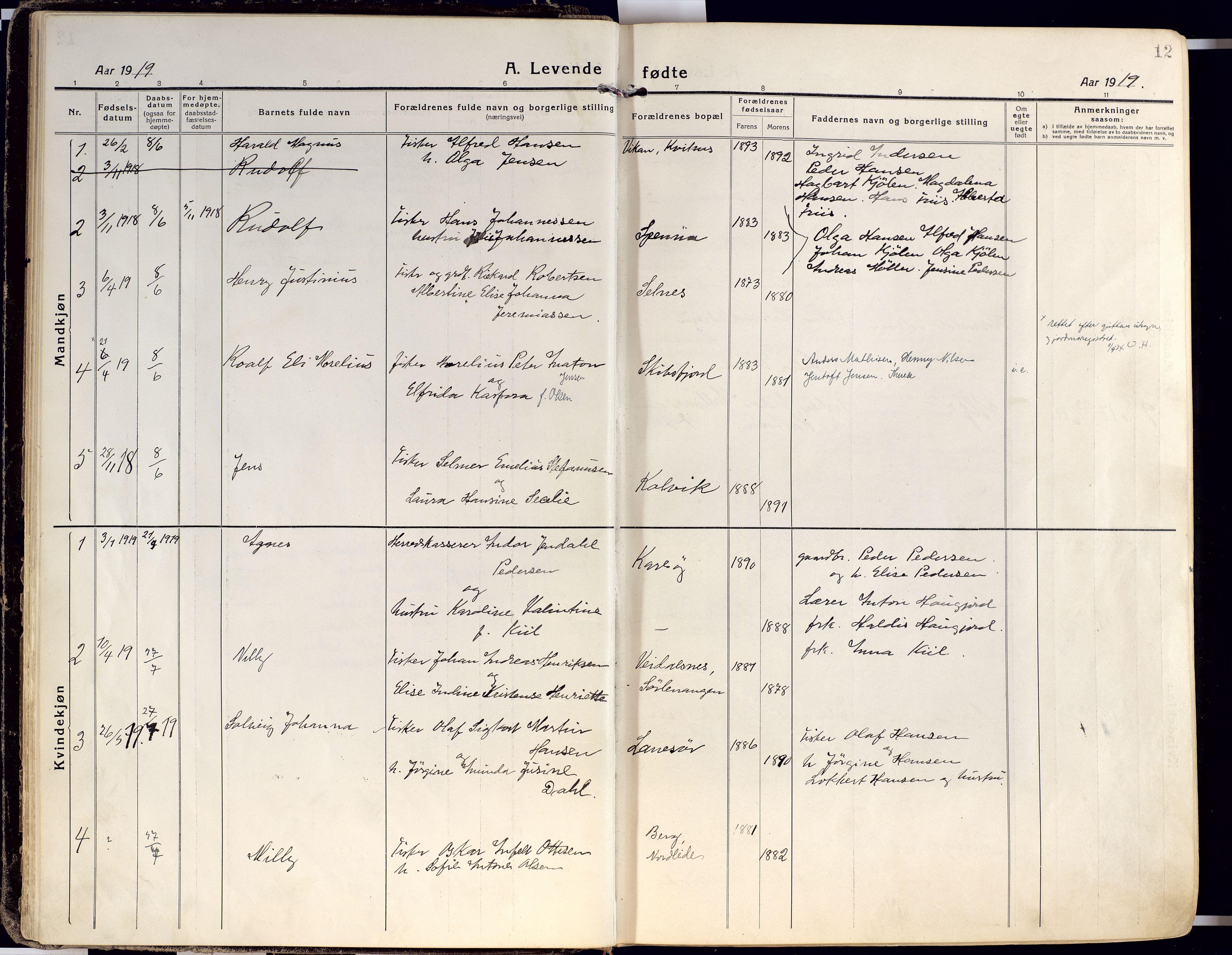 SATØ, Karlsøy sokneprestembete, Ministerialbok nr. 15, 1918-1929, s. 12