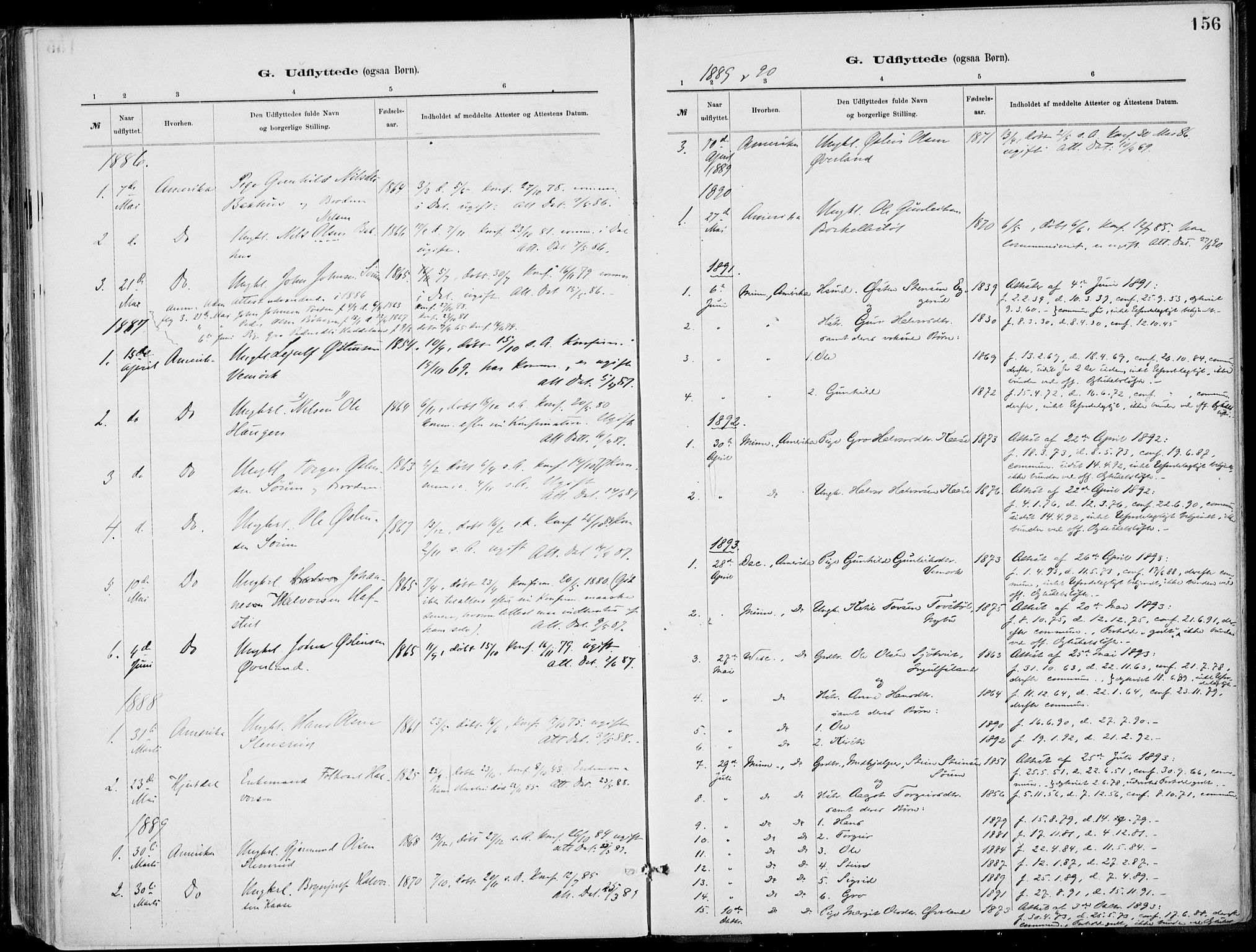 SAKO, Rjukan kirkebøker, F/Fa/L0001: Ministerialbok nr. 1, 1878-1912, s. 156