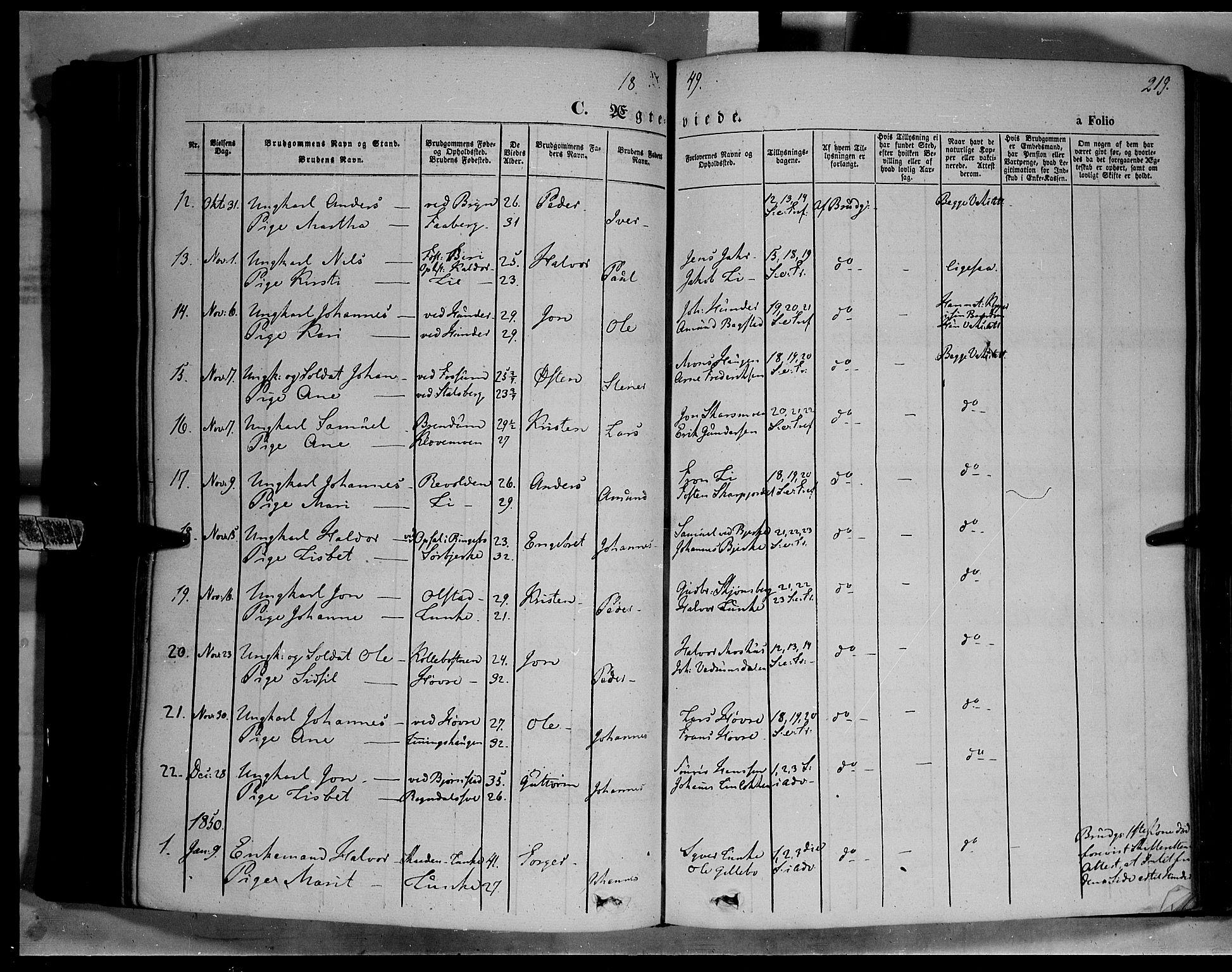 SAH, Øyer prestekontor, Ministerialbok nr. 5, 1842-1857, s. 219