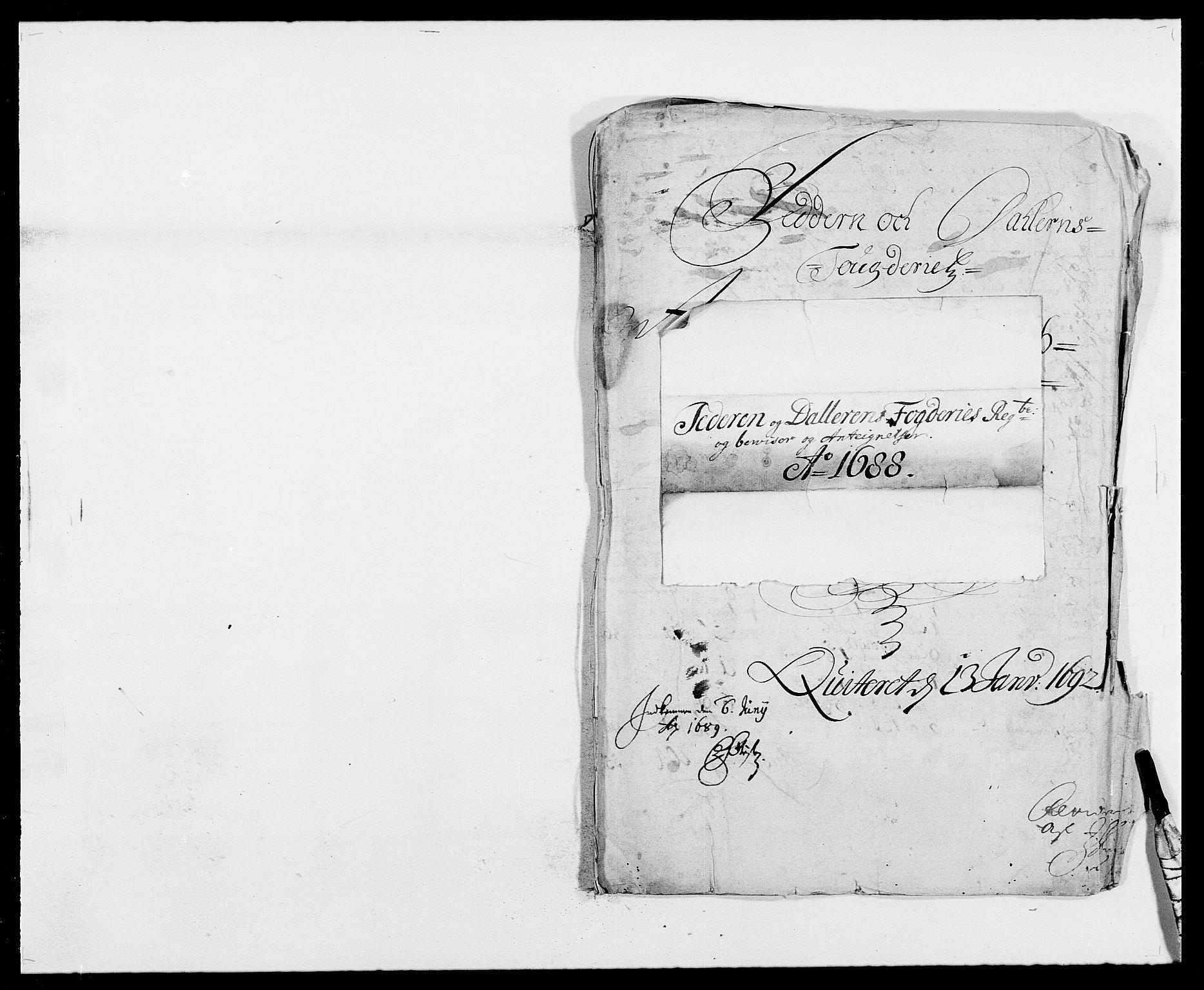 RA, Rentekammeret inntil 1814, Reviderte regnskaper, Fogderegnskap, R46/L2726: Fogderegnskap Jæren og Dalane, 1686-1689, s. 239