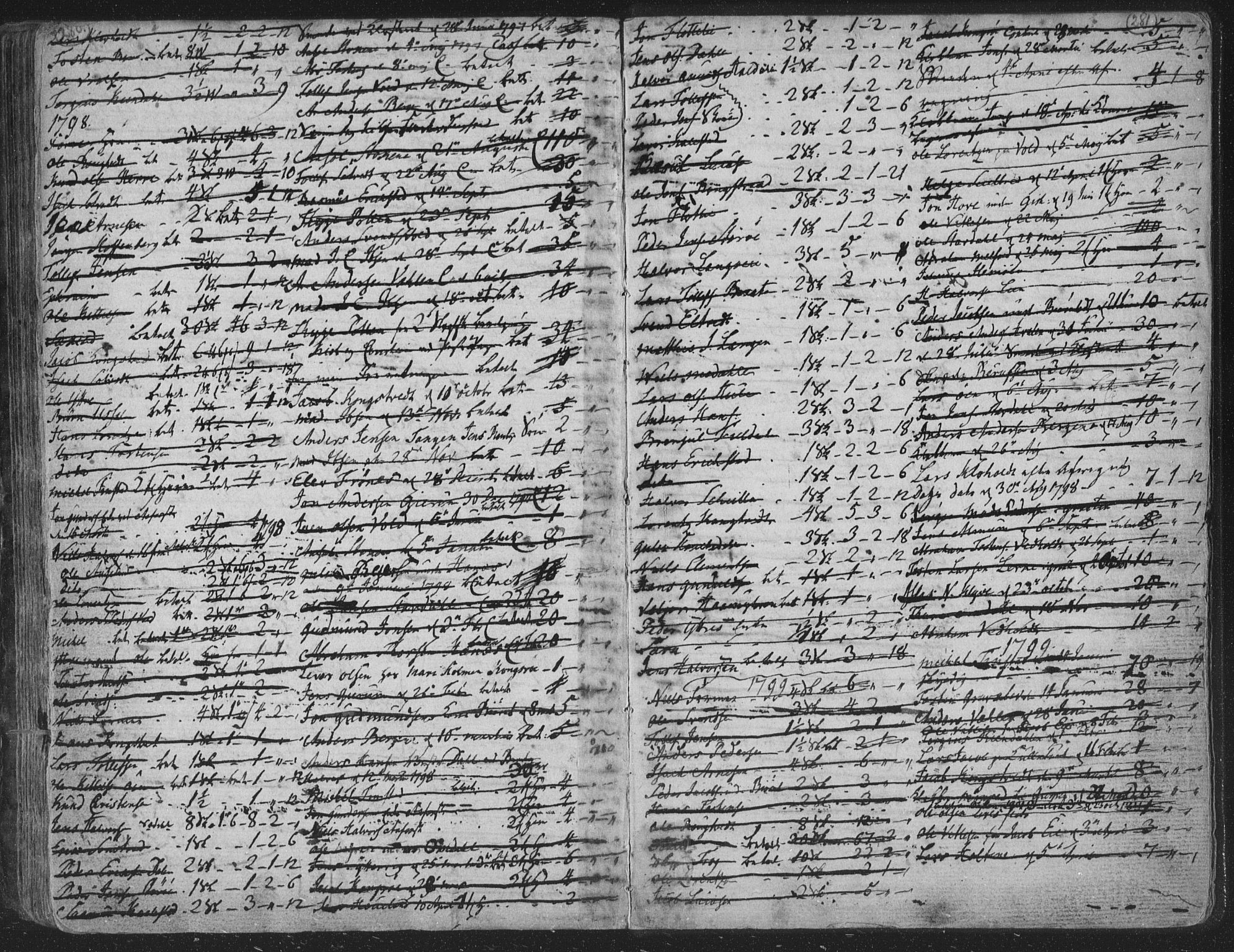 SAKO, Solum kirkebøker, F/Fa/L0003: Ministerialbok nr. I 3, 1761-1814, s. 280-281