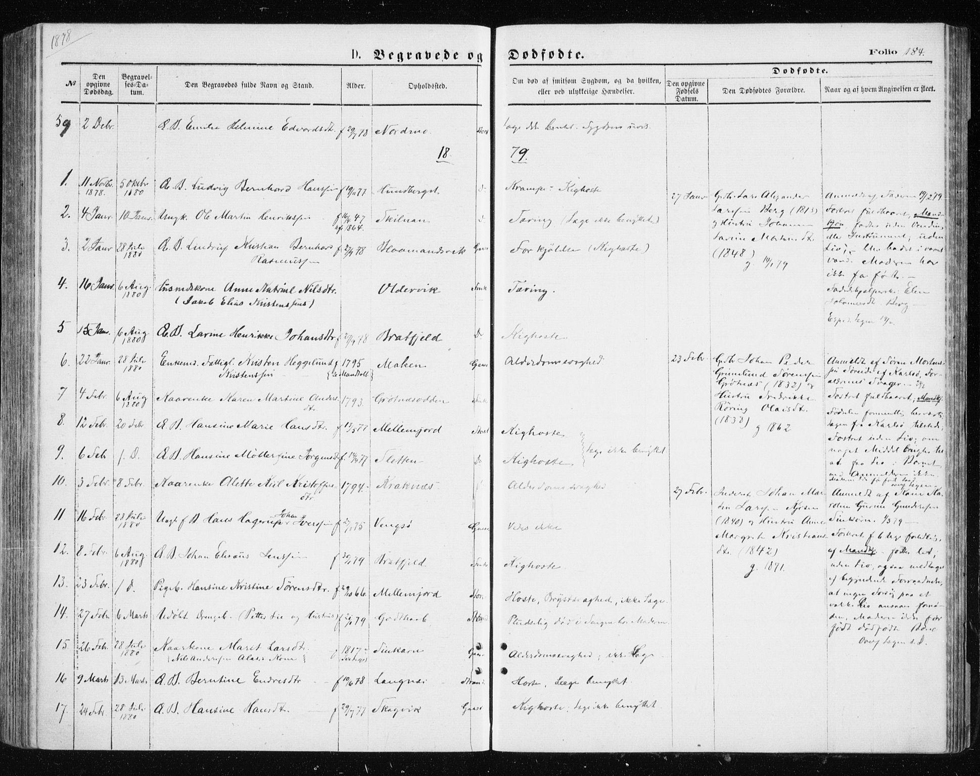 SATØ, Tromsøysund sokneprestkontor, G/Ga/L0003kirke: Ministerialbok nr. 3, 1875-1880, s. 184