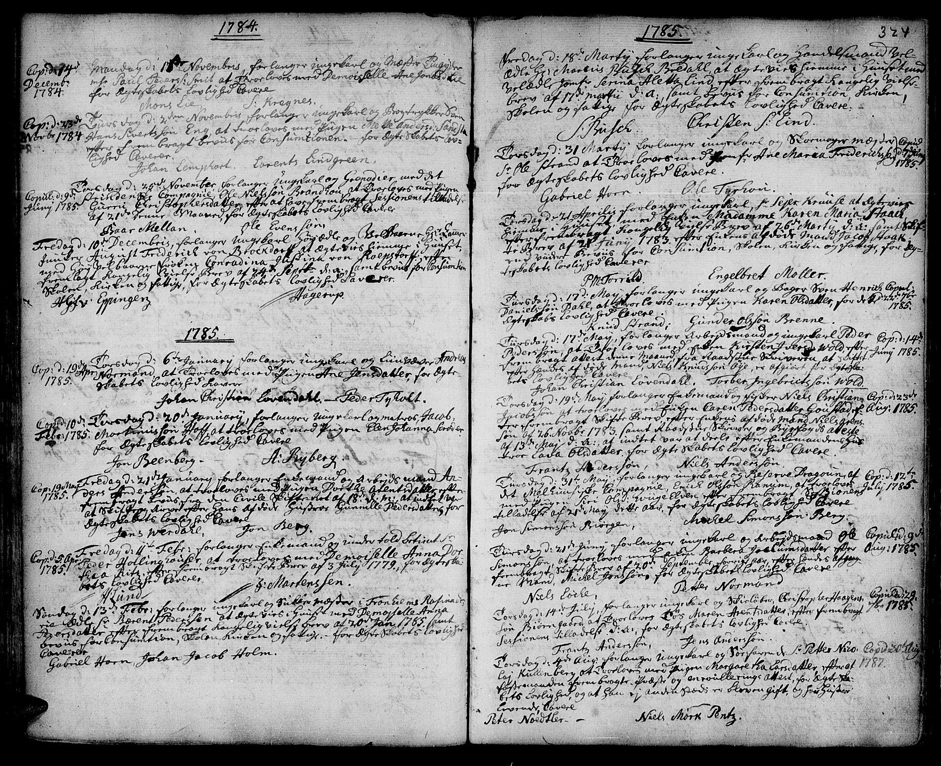 SAT, Ministerialprotokoller, klokkerbøker og fødselsregistre - Sør-Trøndelag, 601/L0038: Ministerialbok nr. 601A06, 1766-1877, s. 324