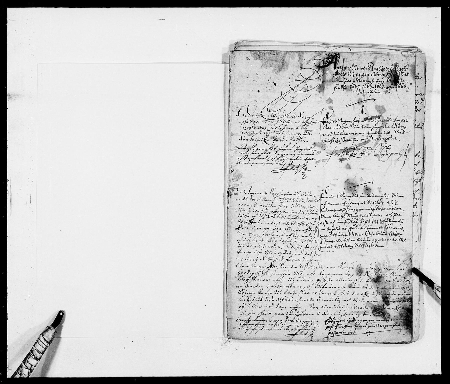 RA, Rentekammeret inntil 1814, Reviderte regnskaper, Fogderegnskap, R40/L2431: Fogderegnskap Råbyggelag, 1664-1668, s. 358