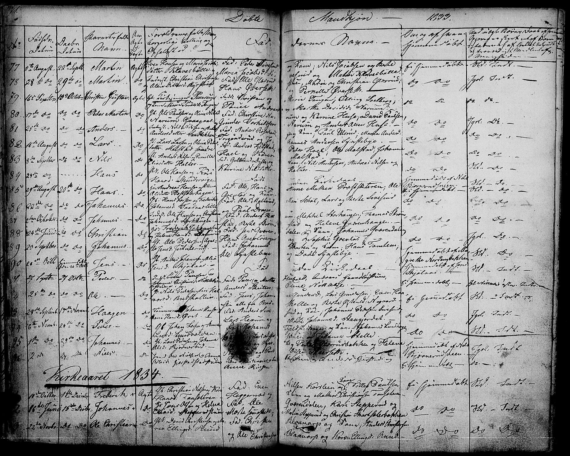 SAH, Vestre Toten prestekontor, H/Ha/Haa/L0002: Ministerialbok nr. 2, 1825-1837, s. 71