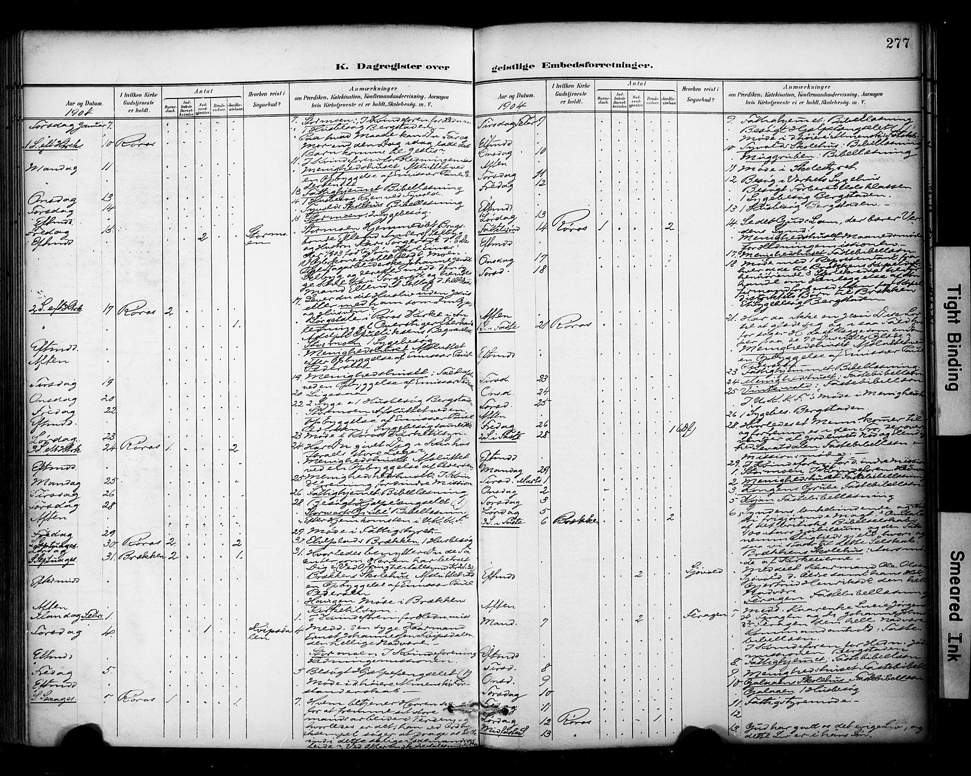 SAT, Ministerialprotokoller, klokkerbøker og fødselsregistre - Sør-Trøndelag, 681/L0936: Ministerialbok nr. 681A14, 1899-1908, s. 277