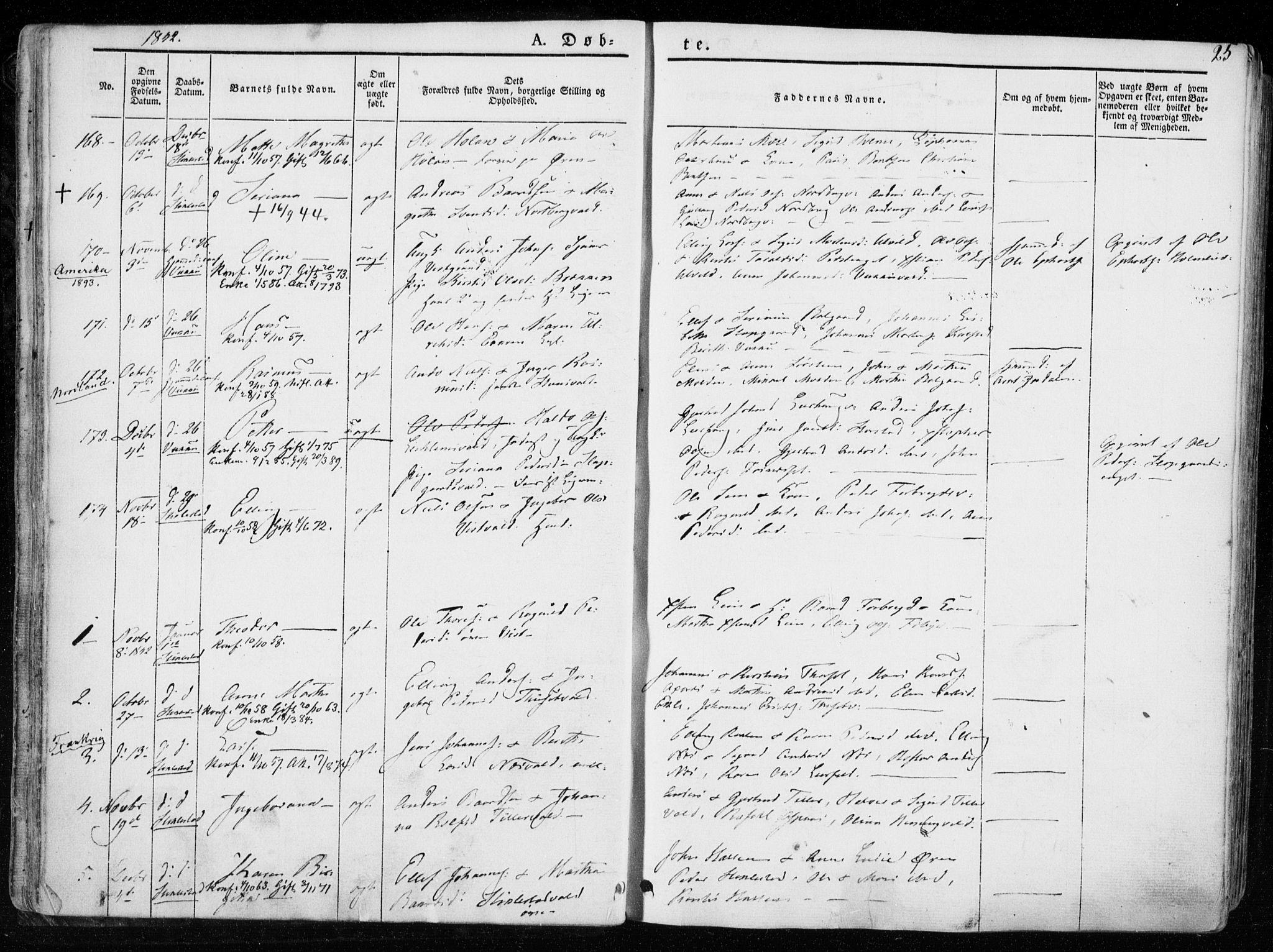 SAT, Ministerialprotokoller, klokkerbøker og fødselsregistre - Nord-Trøndelag, 723/L0239: Ministerialbok nr. 723A08, 1841-1851, s. 25