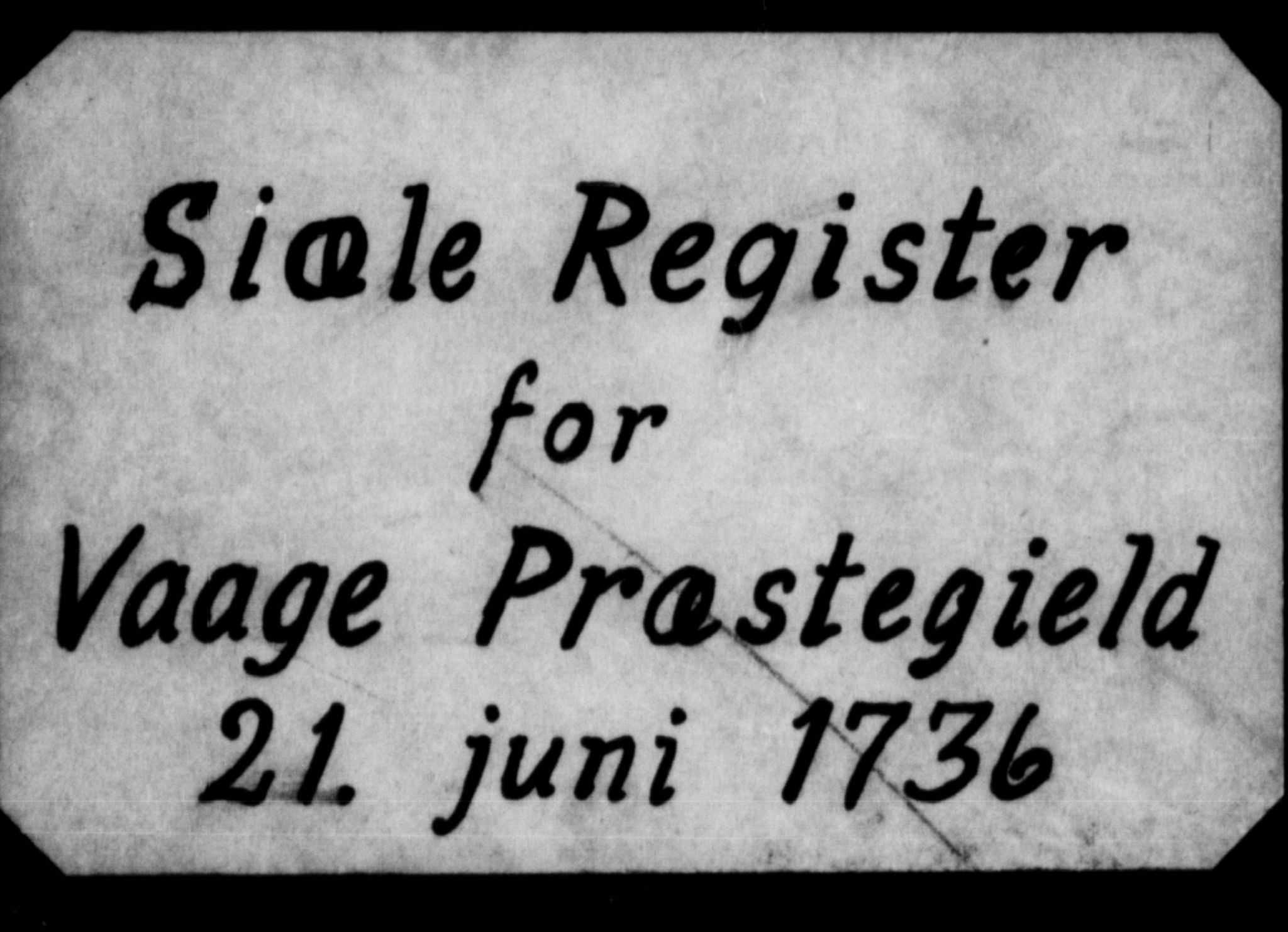 SAH, Vågå prestekontor, 1736, s. upaginert