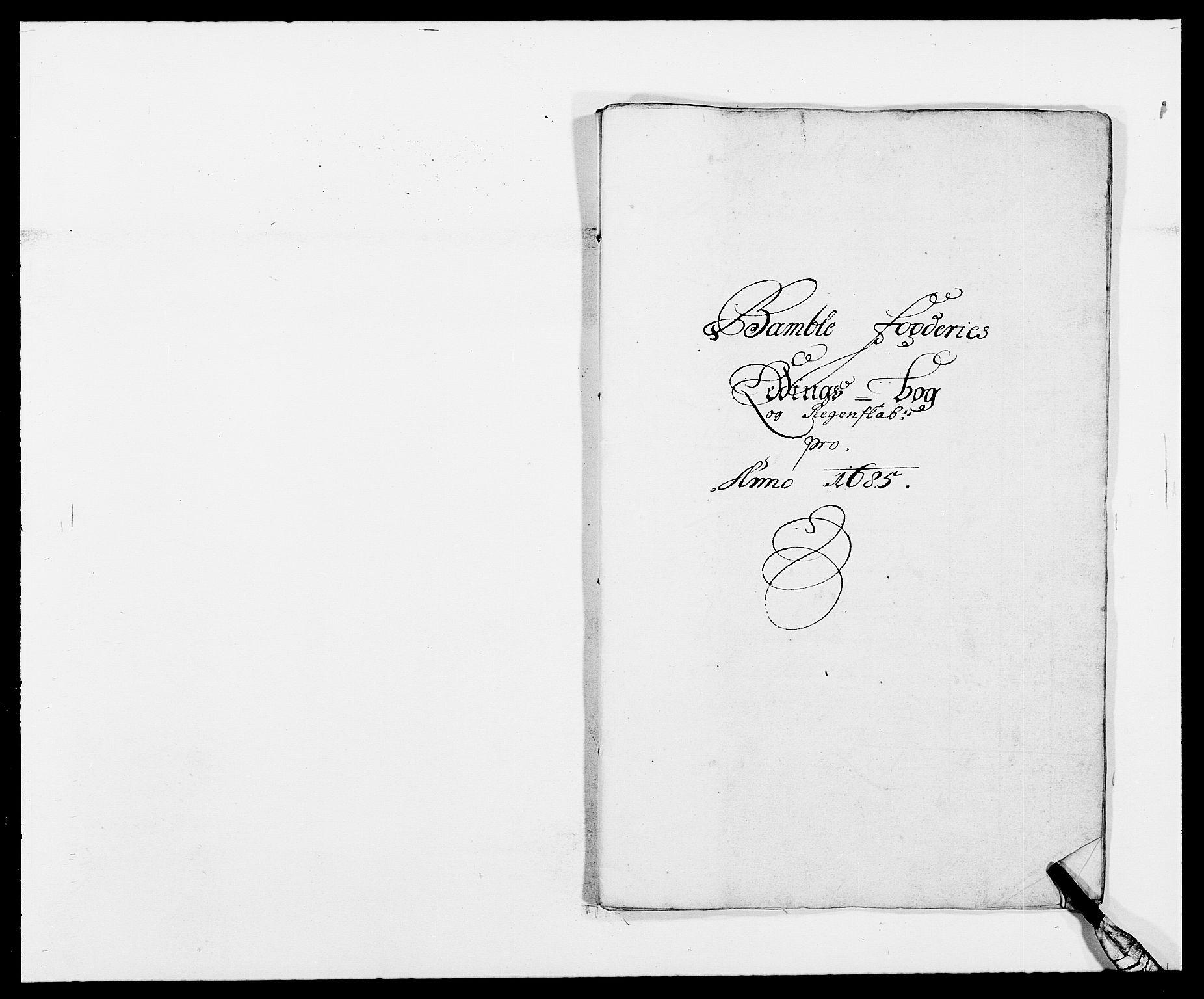 RA, Rentekammeret inntil 1814, Reviderte regnskaper, Fogderegnskap, R34/L2048: Fogderegnskap Bamble, 1685-1687, s. 40