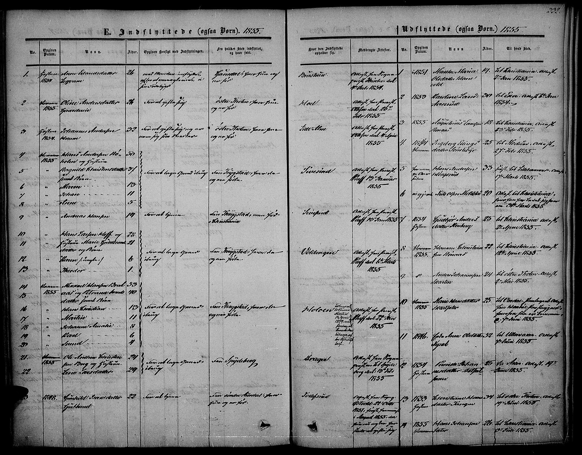 SAH, Vestre Toten prestekontor, Ministerialbok nr. 5, 1850-1855, s. 332