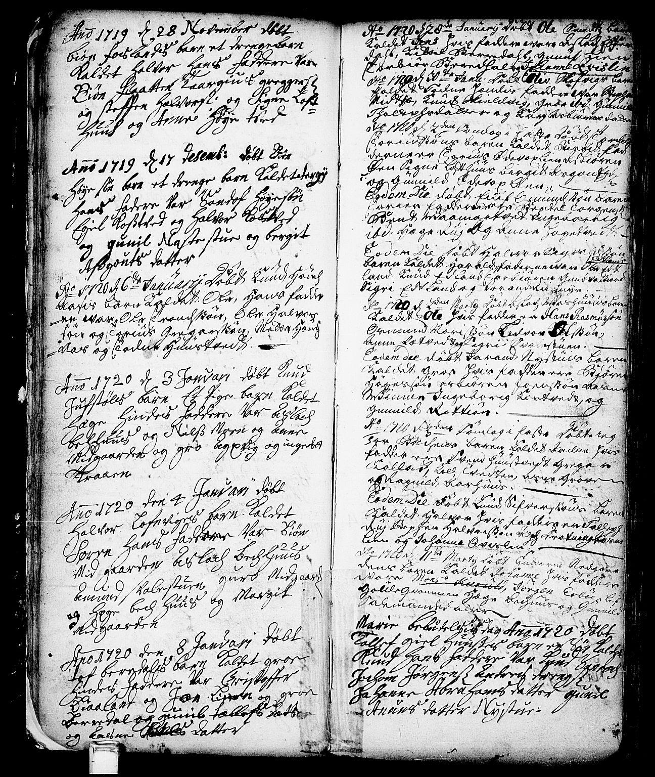 SAKO, Vinje kirkebøker, F/Fa/L0001: Ministerialbok nr. I 1, 1717-1766, s. 65