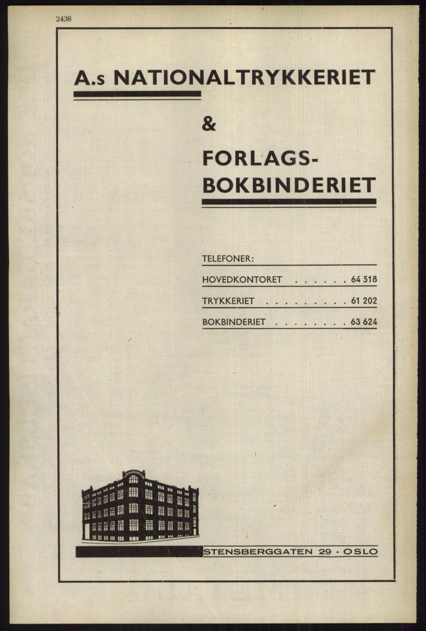 RA, Oslo adressebok (publikasjon)*, 1934, s. 2438