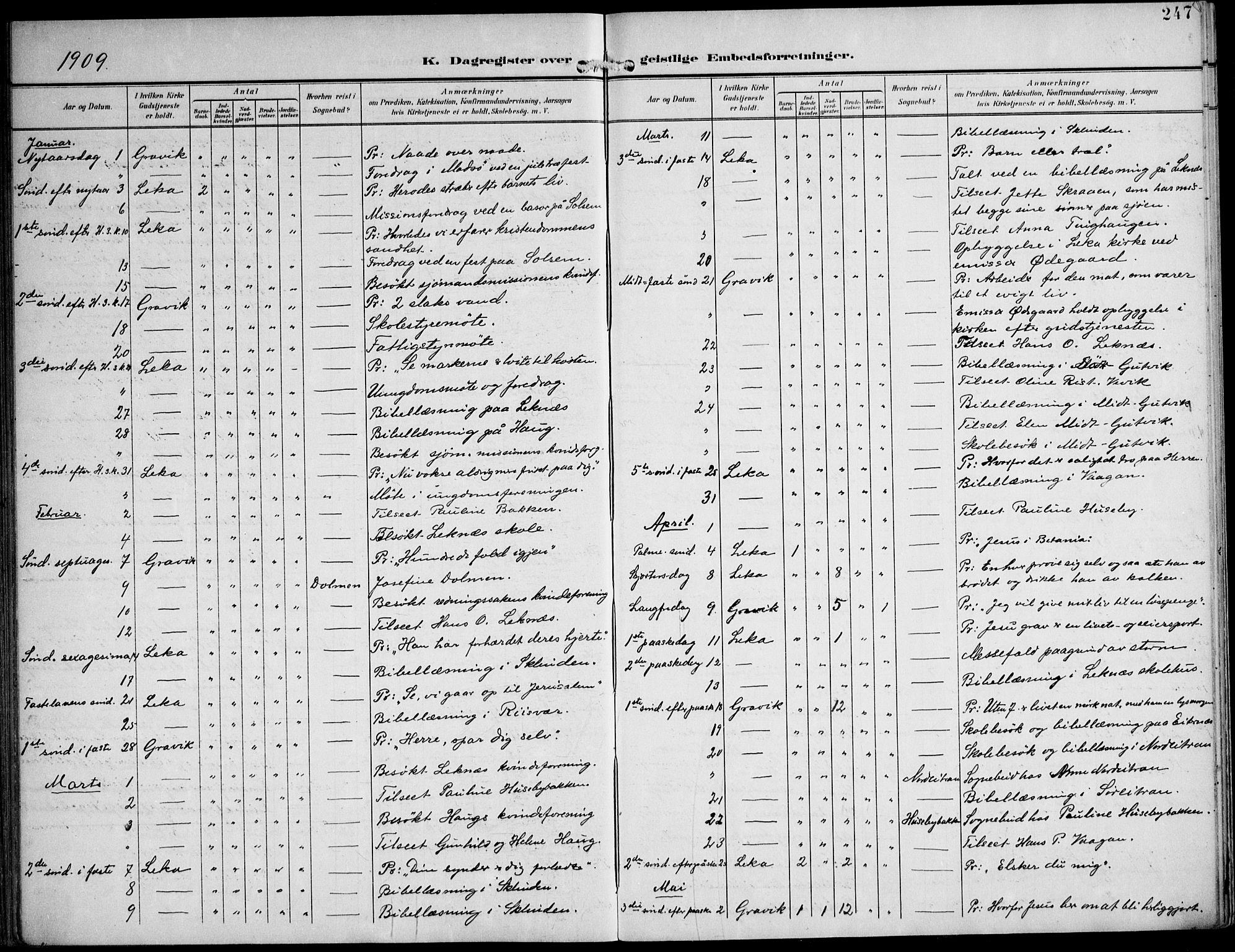 SAT, Ministerialprotokoller, klokkerbøker og fødselsregistre - Nord-Trøndelag, 788/L0698: Ministerialbok nr. 788A05, 1902-1921, s. 247