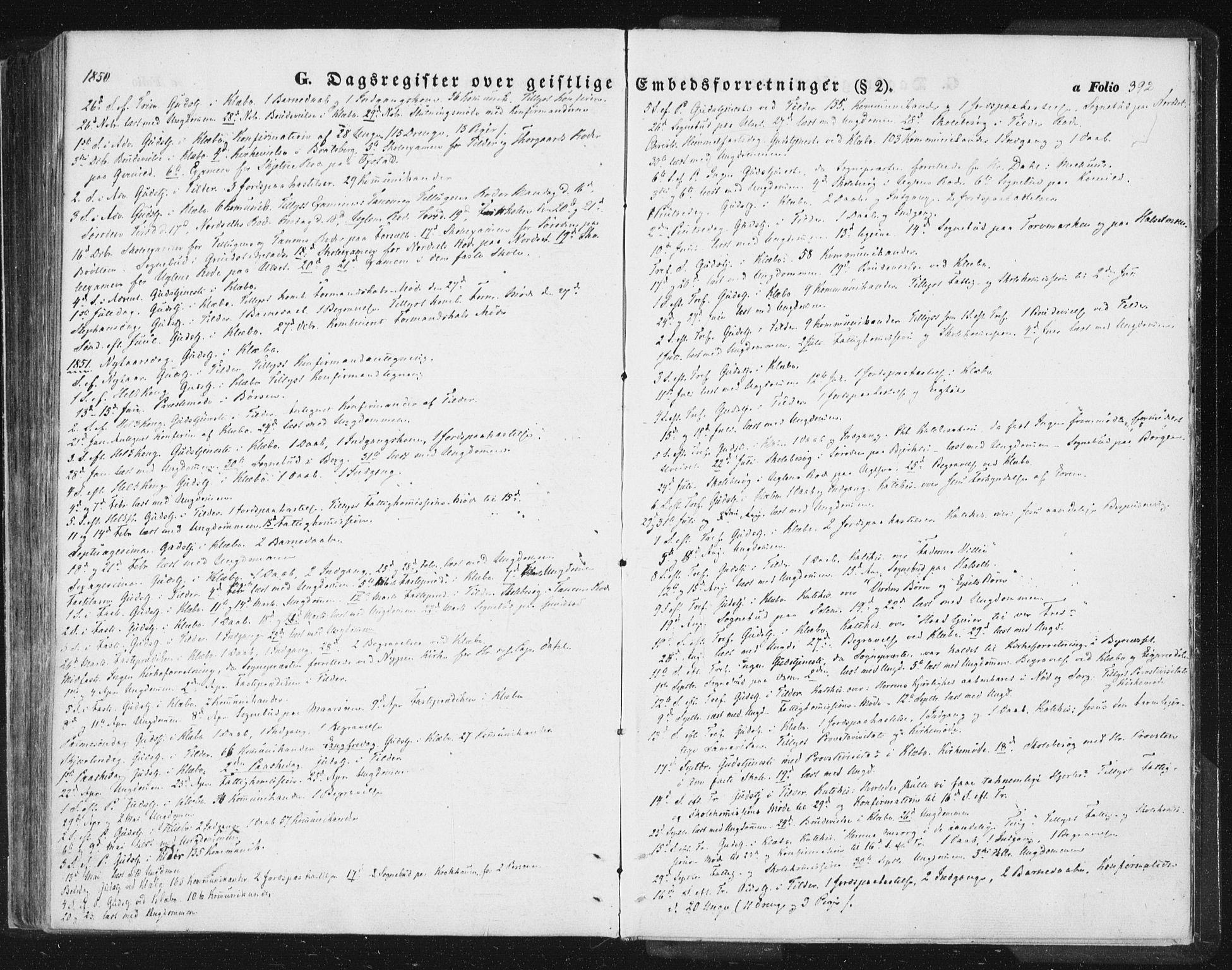 SAT, Ministerialprotokoller, klokkerbøker og fødselsregistre - Sør-Trøndelag, 618/L0441: Ministerialbok nr. 618A05, 1843-1862, s. 392