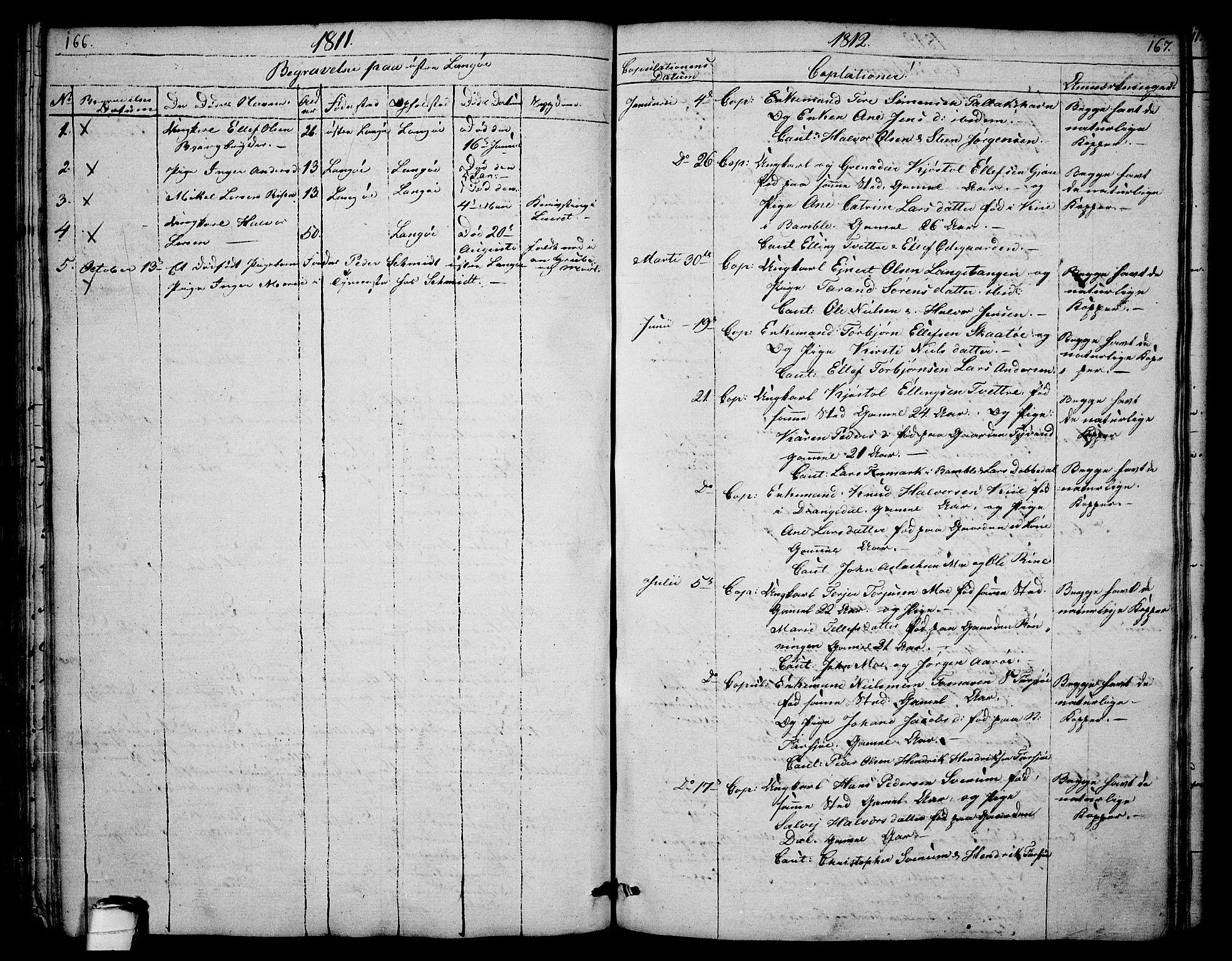 SAKO, Sannidal kirkebøker, F/Fa/L0003: Ministerialbok nr. 3, 1803-1813, s. 166-167