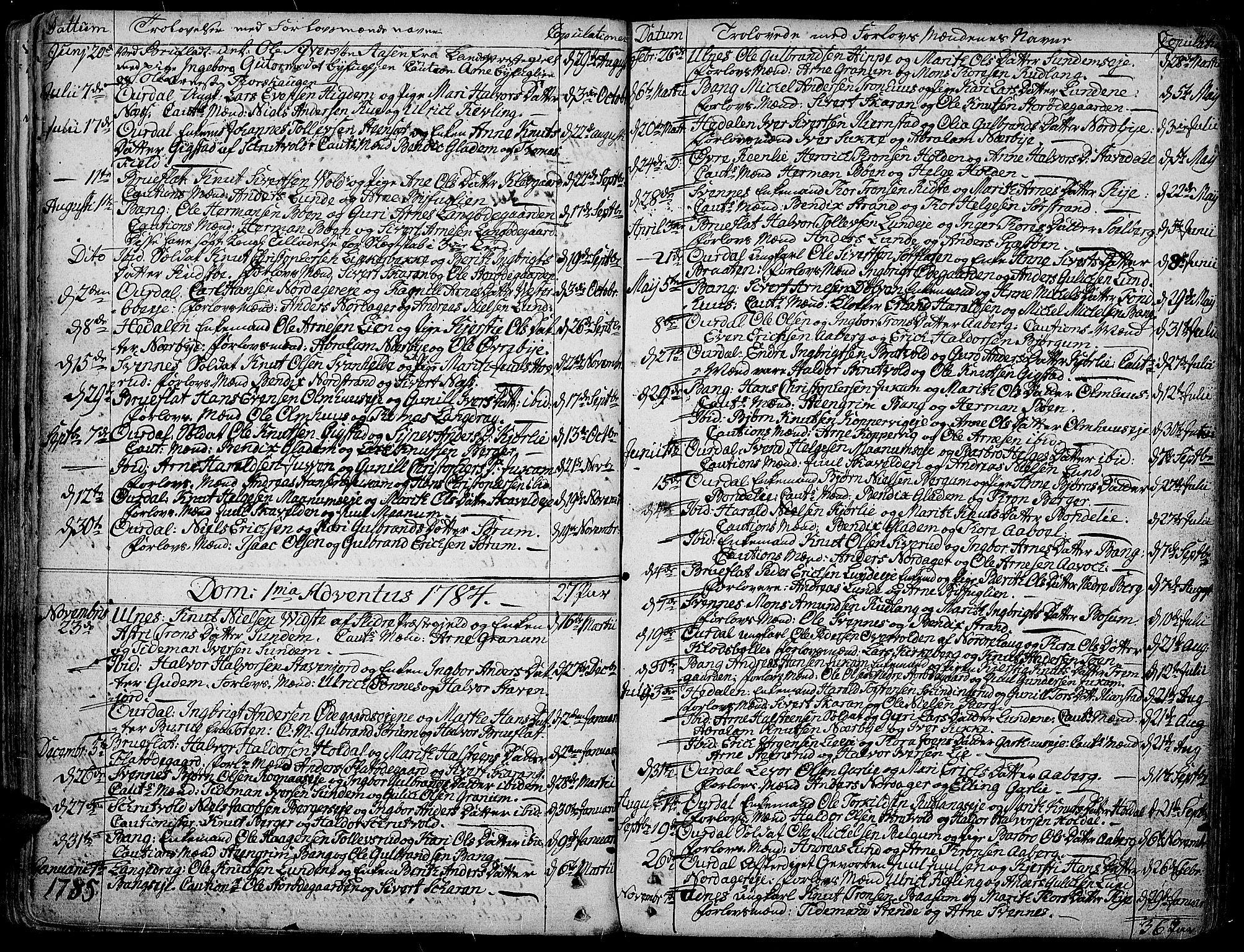 SAH, Aurdal prestekontor, Ministerialbok nr. 6, 1781-1804, s. 132