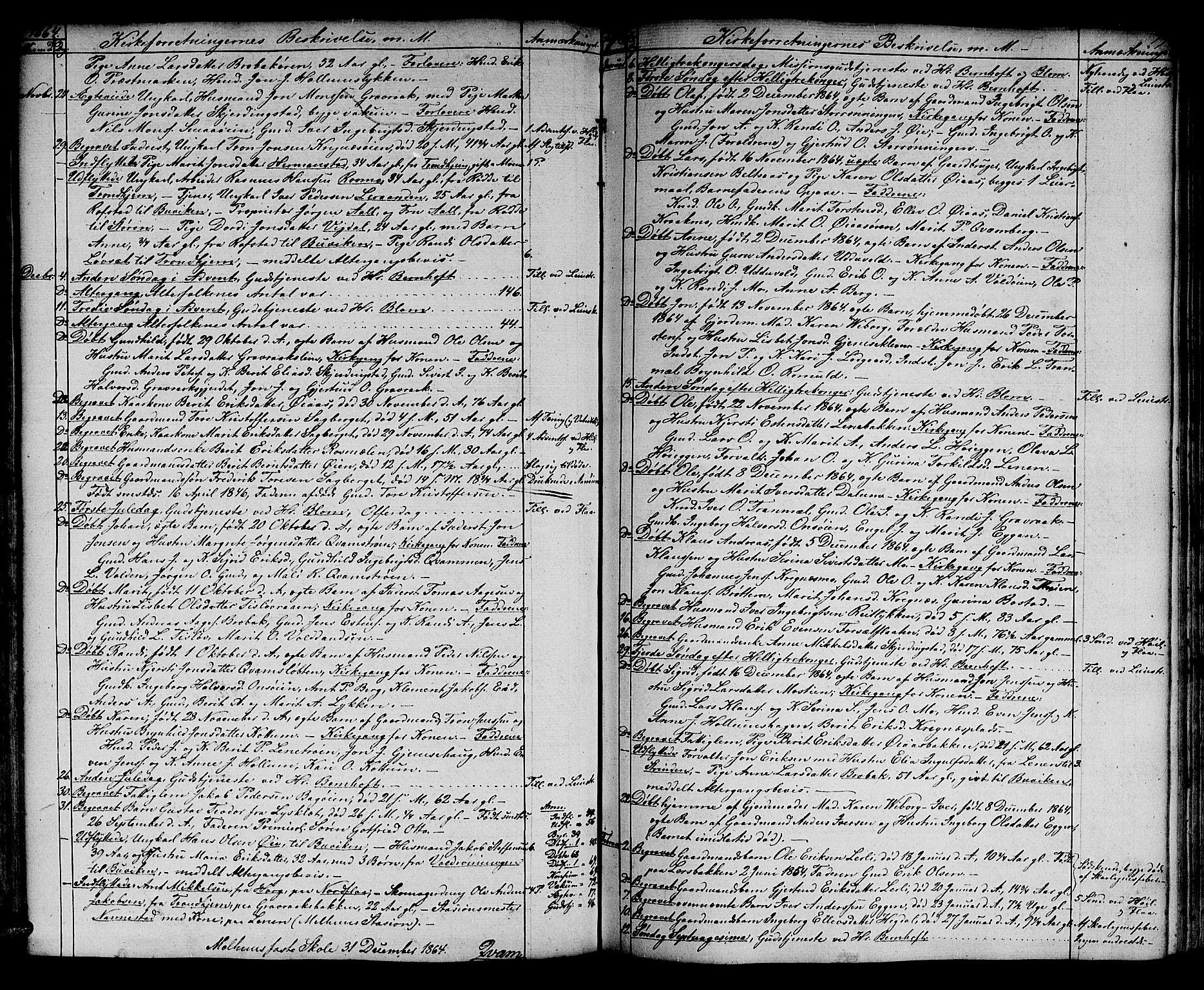 SAT, Ministerialprotokoller, klokkerbøker og fødselsregistre - Sør-Trøndelag, 691/L1093: Klokkerbok nr. 691C04, 1852-1879, s. 79
