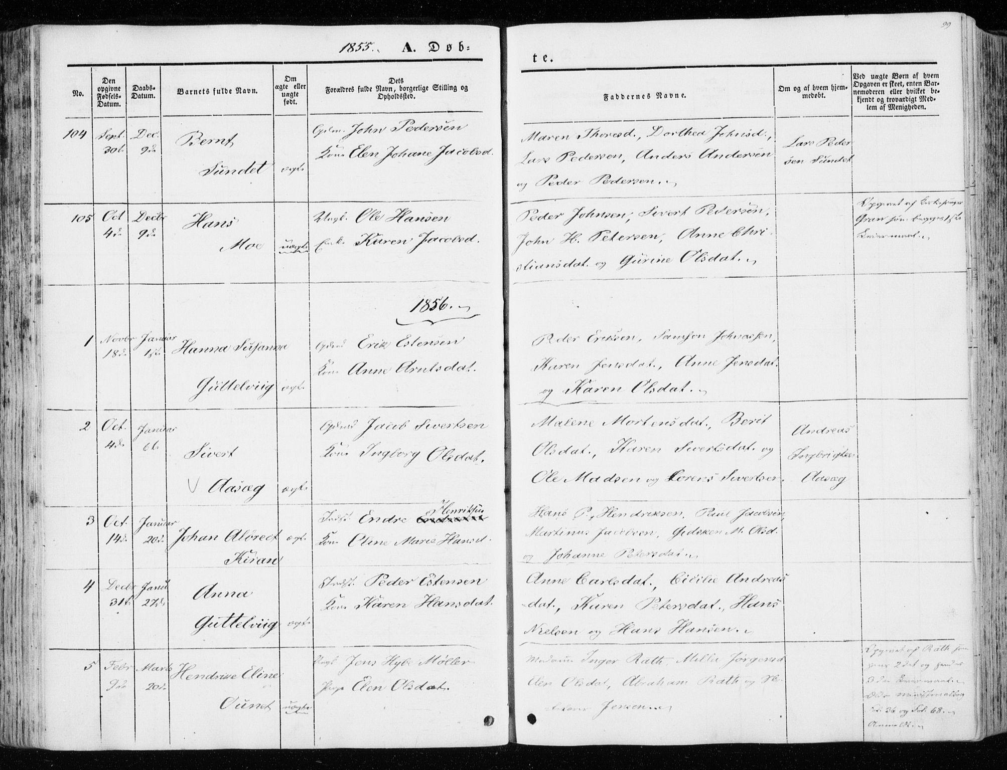 SAT, Ministerialprotokoller, klokkerbøker og fødselsregistre - Sør-Trøndelag, 657/L0704: Ministerialbok nr. 657A05, 1846-1857, s. 99