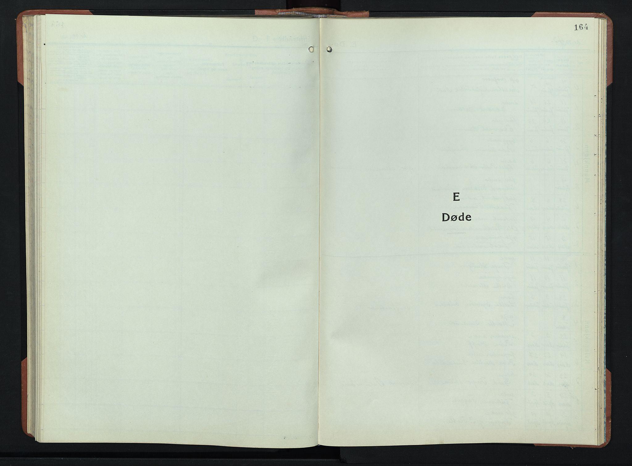 SAH, Lunner prestekontor, H/Ha/Hab/L0004: Klokkerbok nr. 4, 1943-1952, s. 164