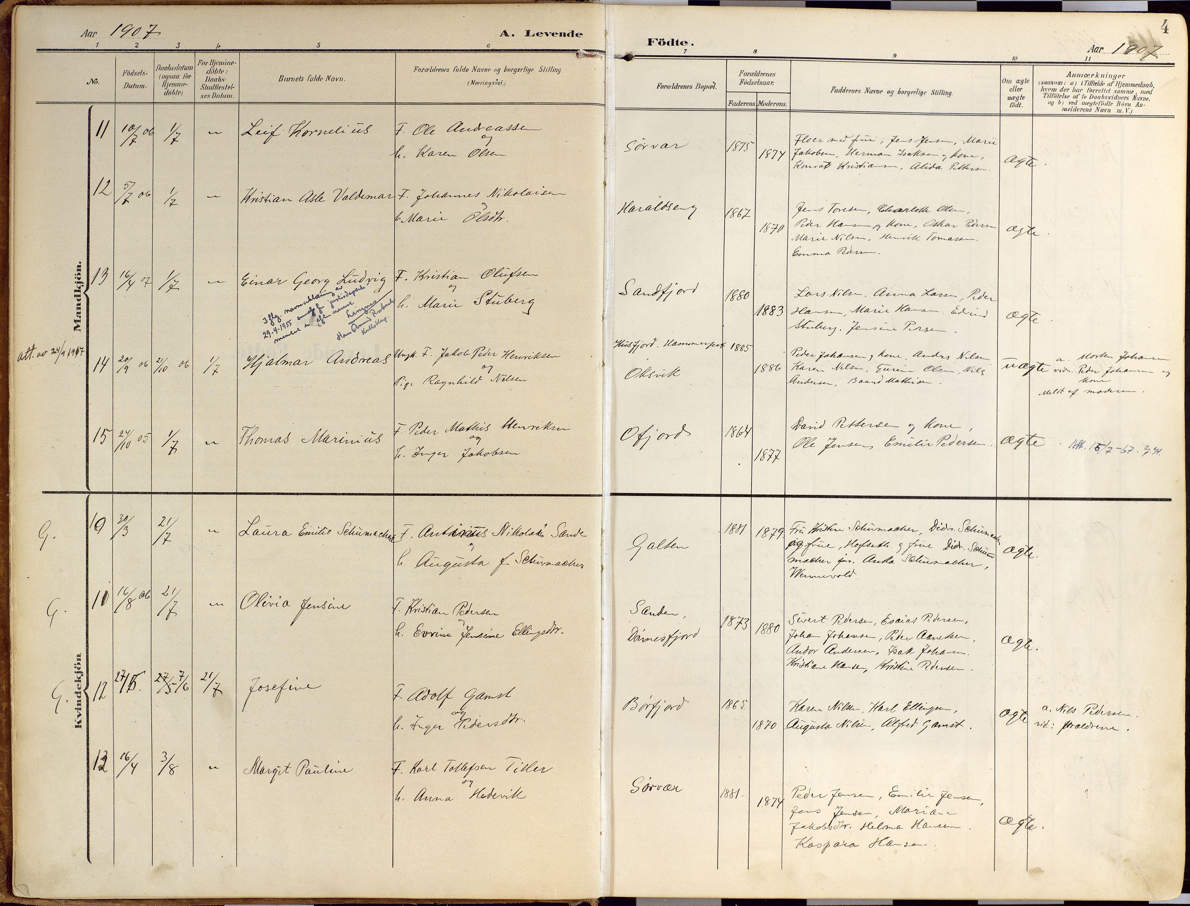 SATØ, Loppa sokneprestkontor, H/Ha/L0010kirke: Ministerialbok nr. 10, 1907-1922, s. 4