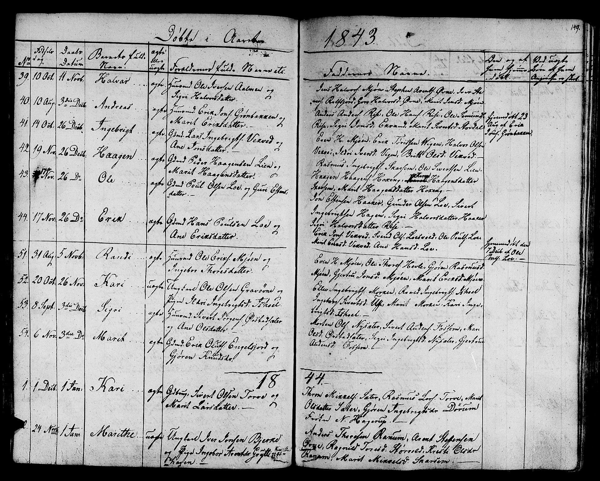 SAT, Ministerialprotokoller, klokkerbøker og fødselsregistre - Sør-Trøndelag, 678/L0897: Ministerialbok nr. 678A06-07, 1821-1847, s. 149