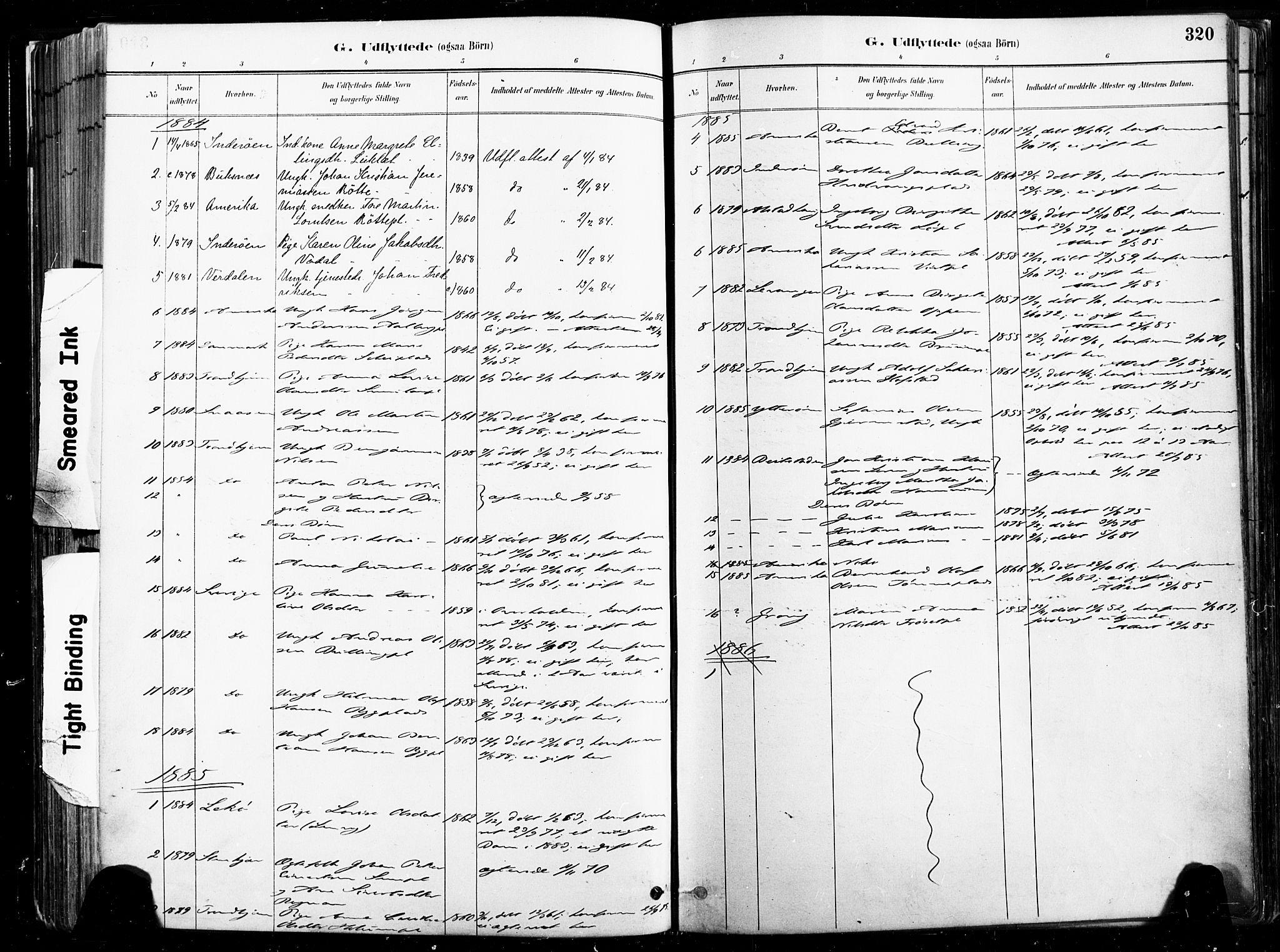 SAT, Ministerialprotokoller, klokkerbøker og fødselsregistre - Nord-Trøndelag, 735/L0351: Ministerialbok nr. 735A10, 1884-1908, s. 320