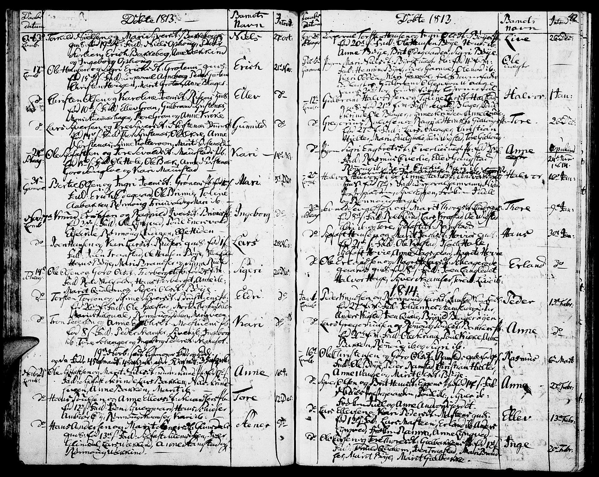 SAH, Lom prestekontor, K/L0003: Ministerialbok nr. 3, 1801-1825, s. 42