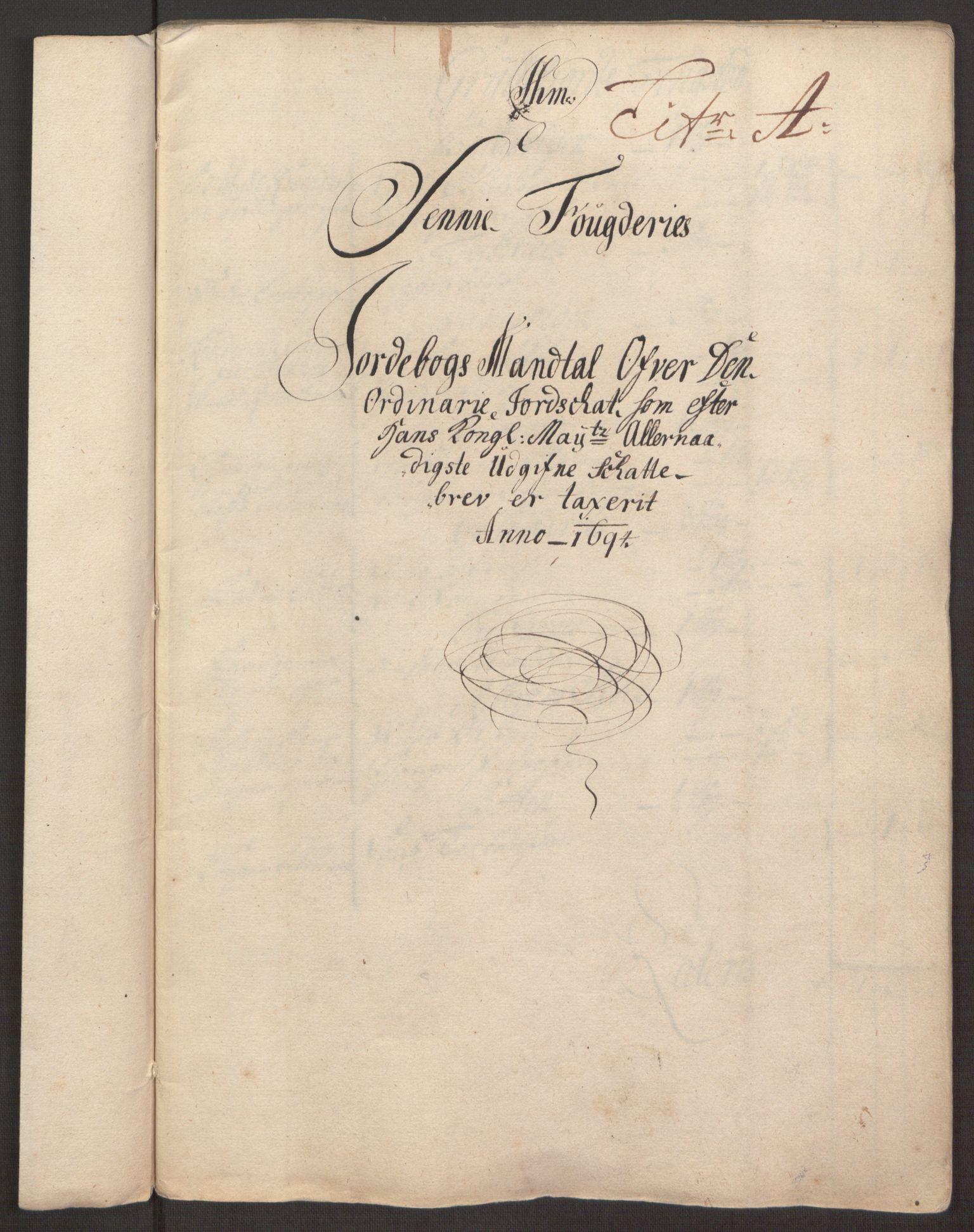 RA, Rentekammeret inntil 1814, Reviderte regnskaper, Fogderegnskap, R68/L4753: Fogderegnskap Senja og Troms, 1694-1696, s. 11