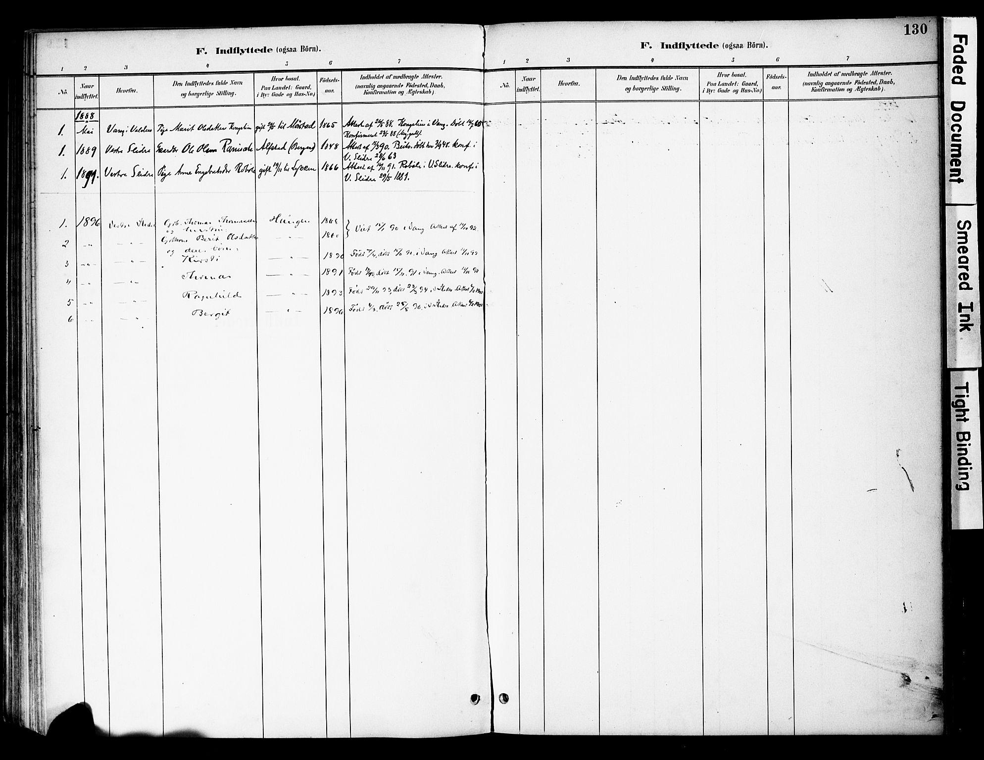 SAH, Øystre Slidre prestekontor, Ministerialbok nr. 4, 1887-1910, s. 130