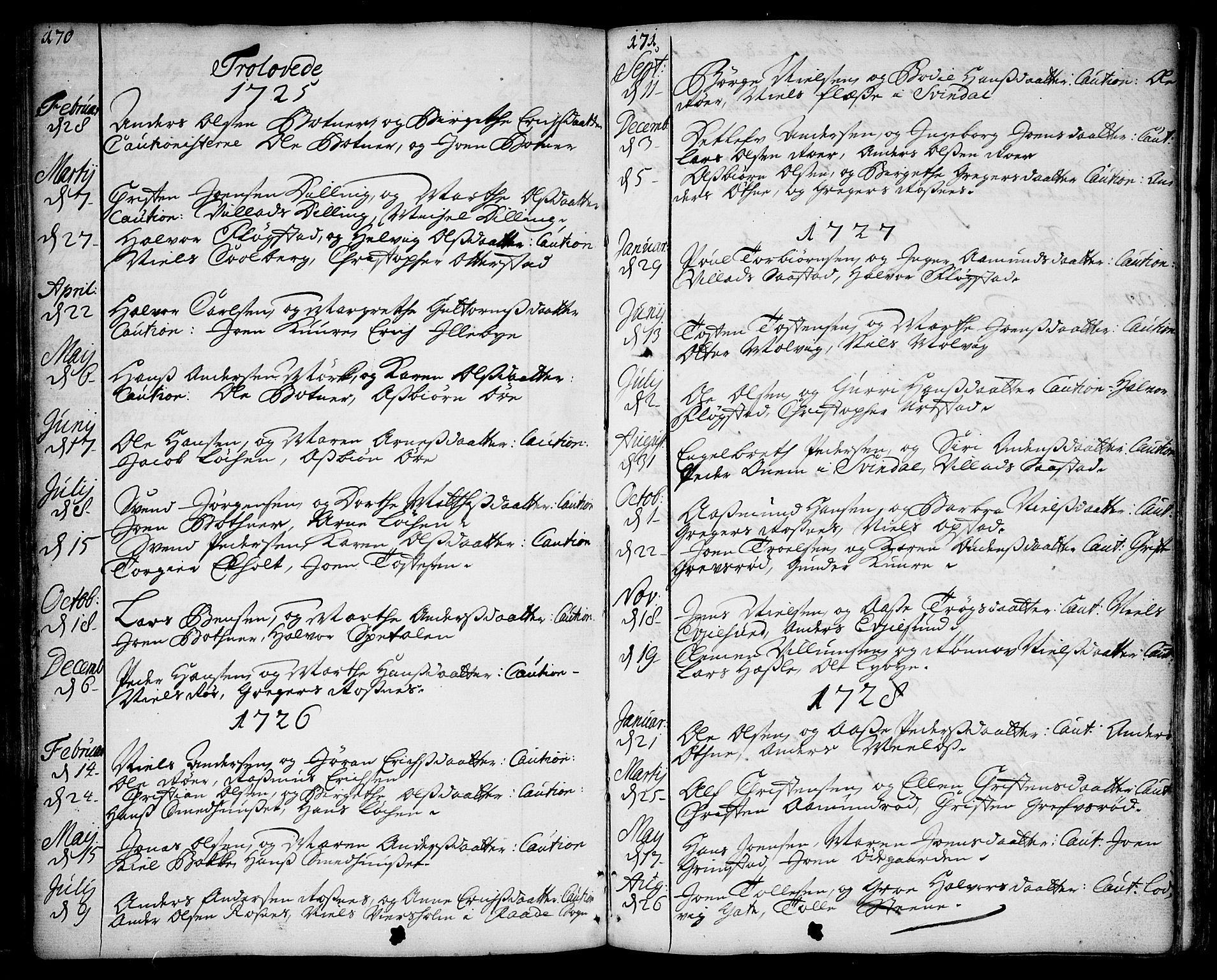 SAO, Rygge prestekontor Kirkebøker, F/Fa/L0001: Ministerialbok nr. 1, 1725-1771, s. 170-171