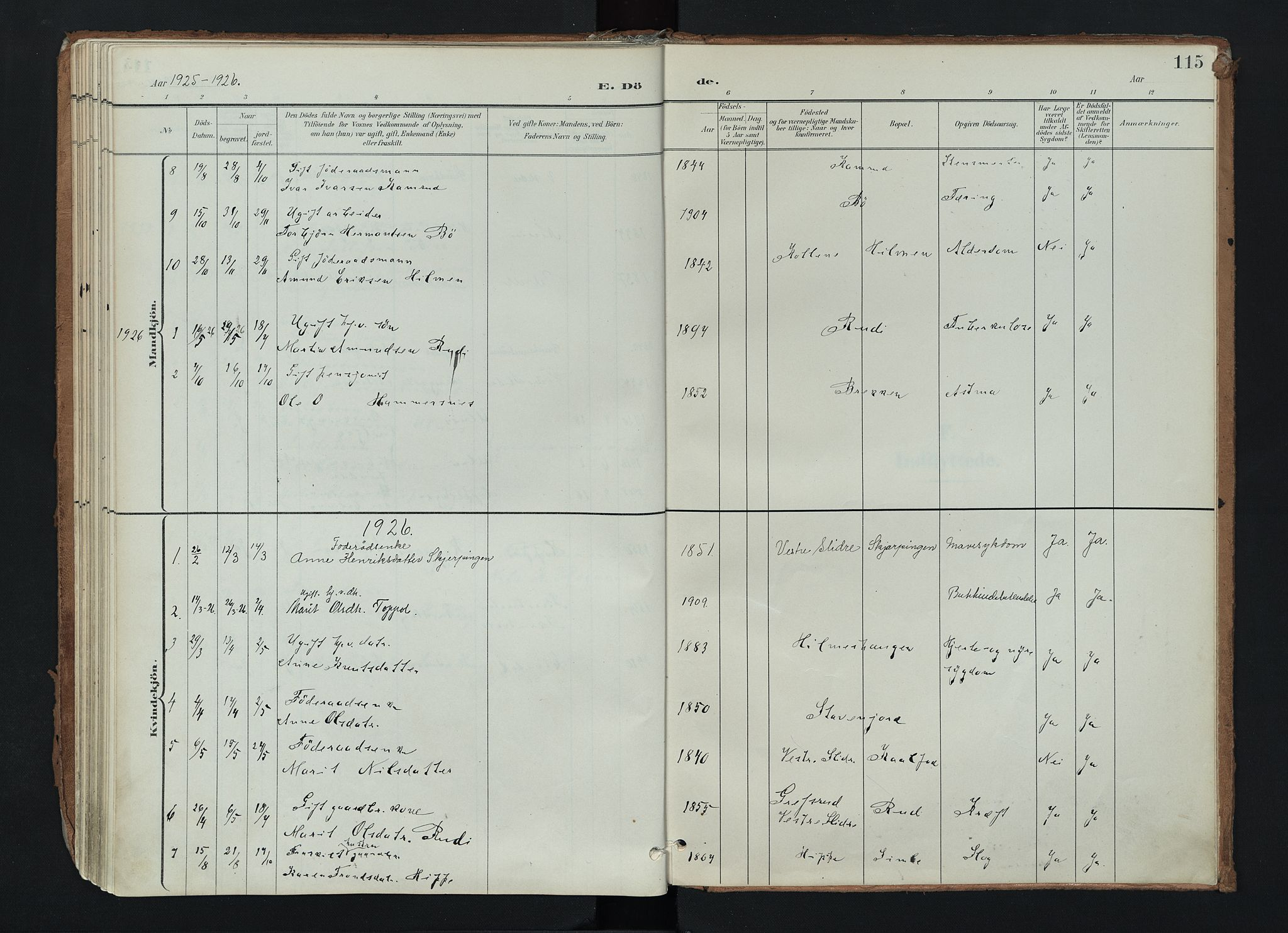 SAH, Nord-Aurdal prestekontor, Ministerialbok nr. 17, 1897-1926, s. 115