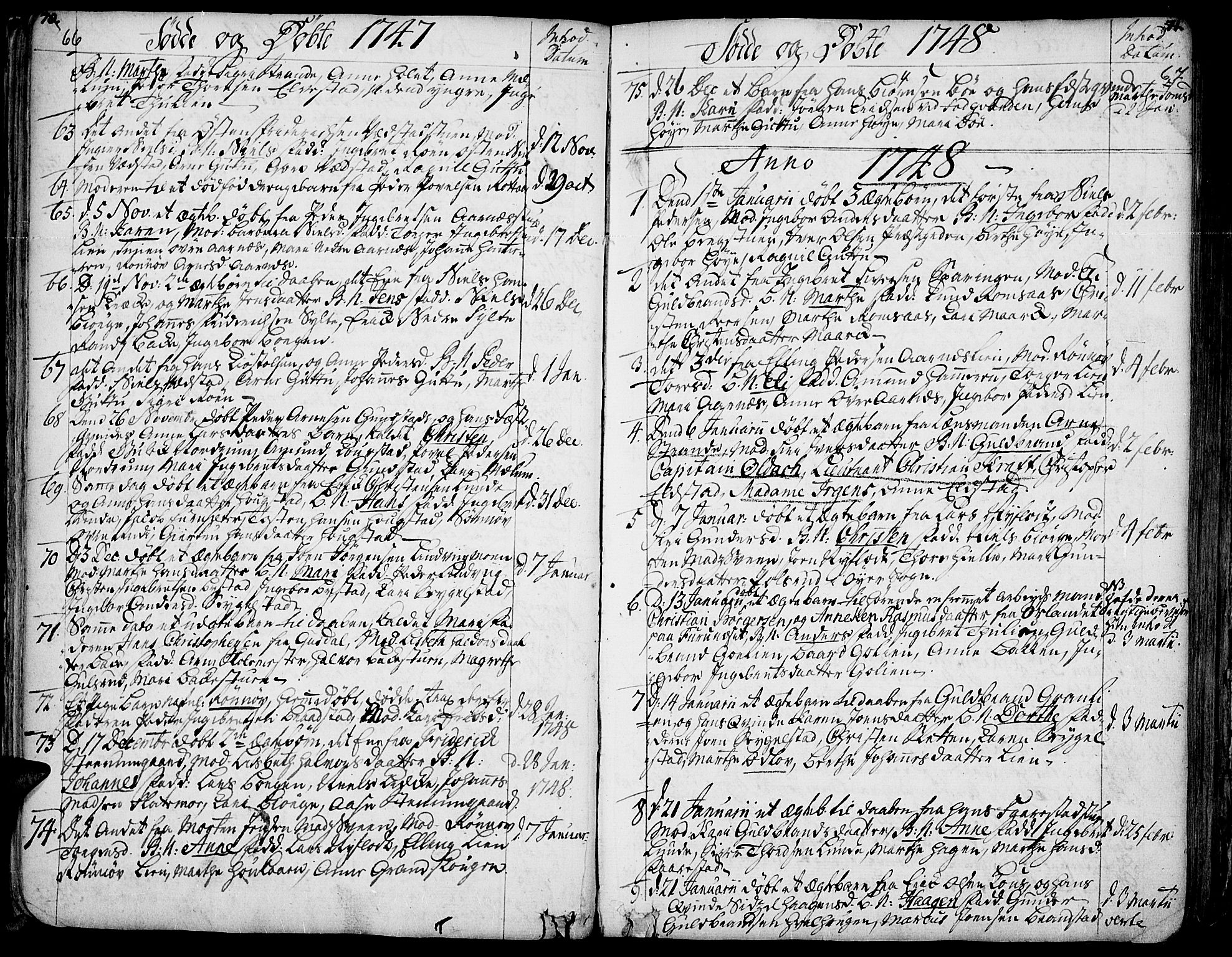 SAH, Ringebu prestekontor, Ministerialbok nr. 2, 1734-1780, s. 66-67