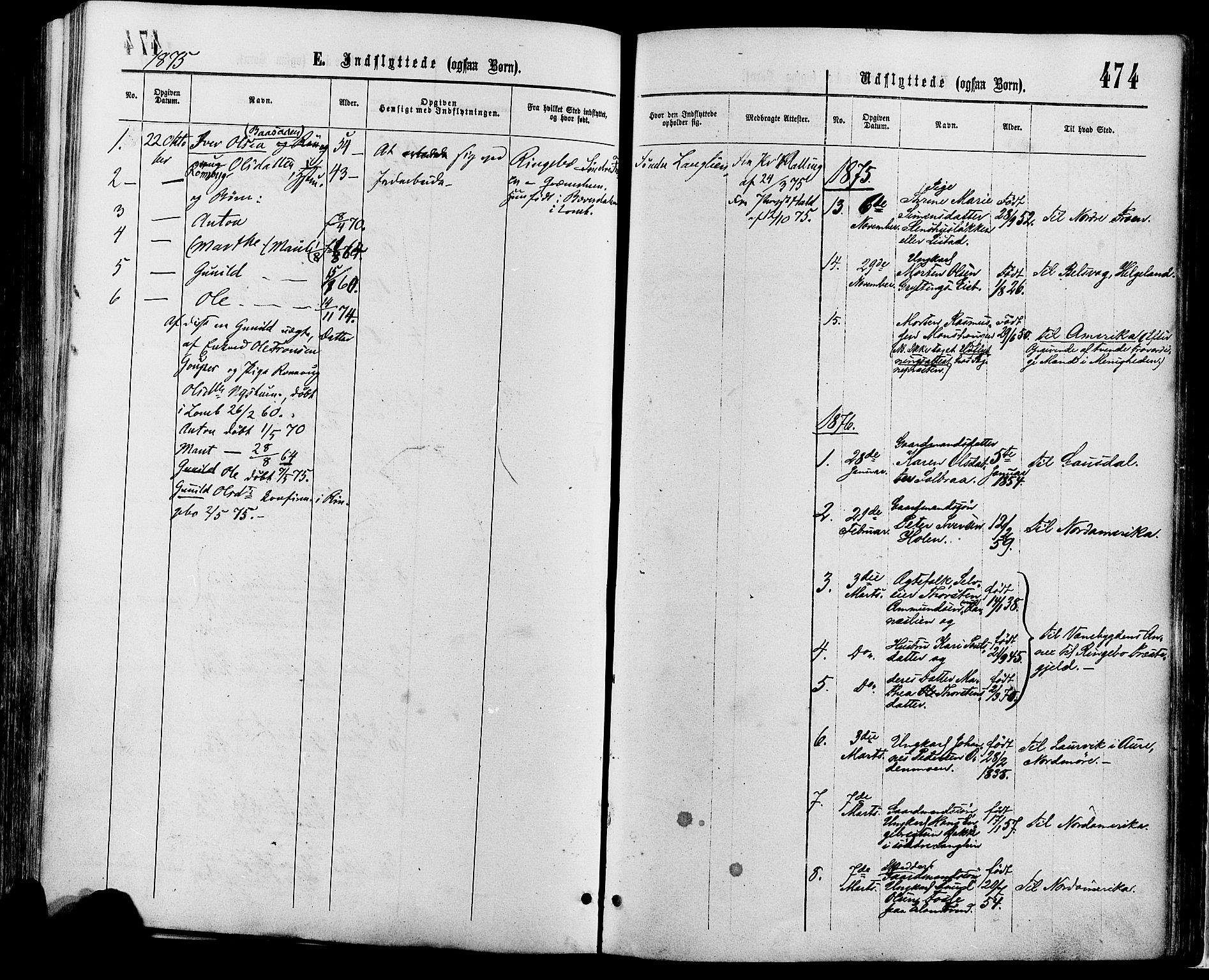 SAH, Sør-Fron prestekontor, H/Ha/Haa/L0002: Ministerialbok nr. 2, 1864-1880, s. 474